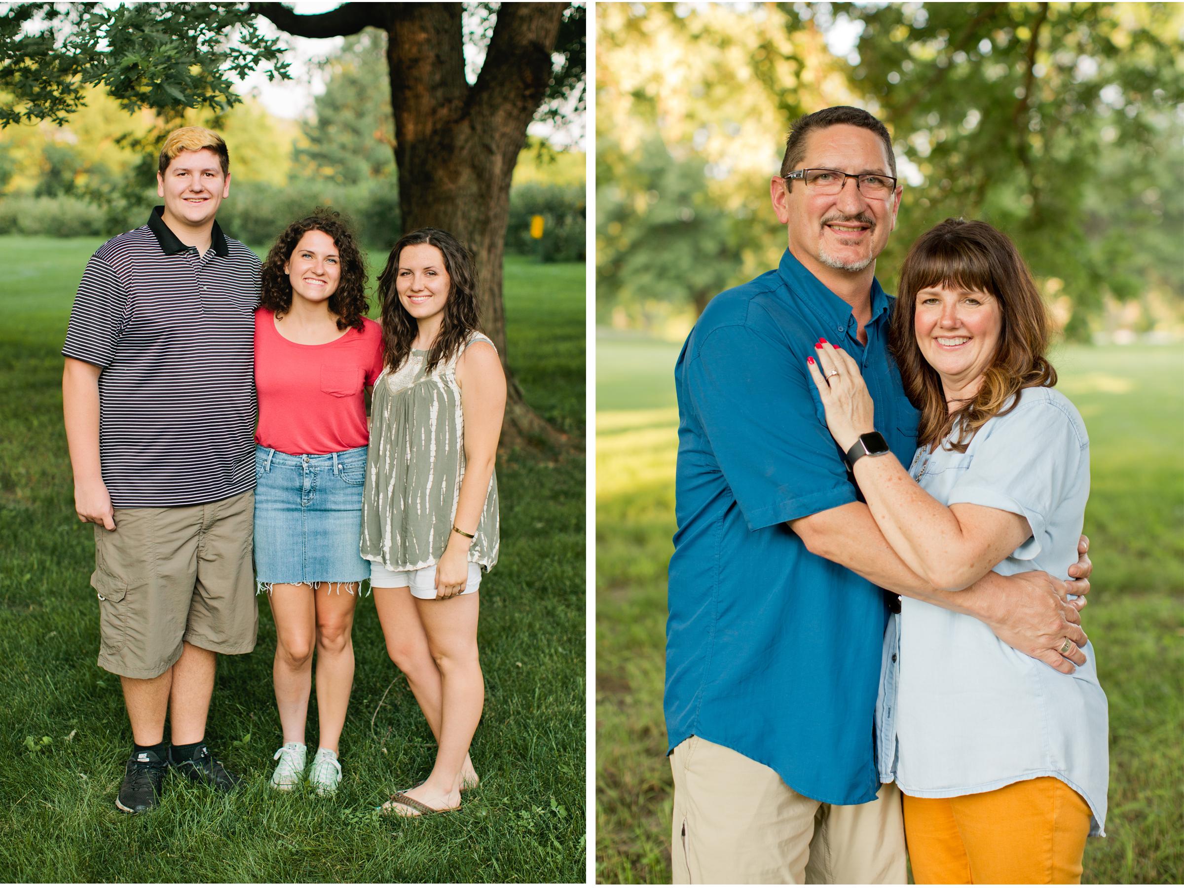 parents and kids family photos Des Moines photography