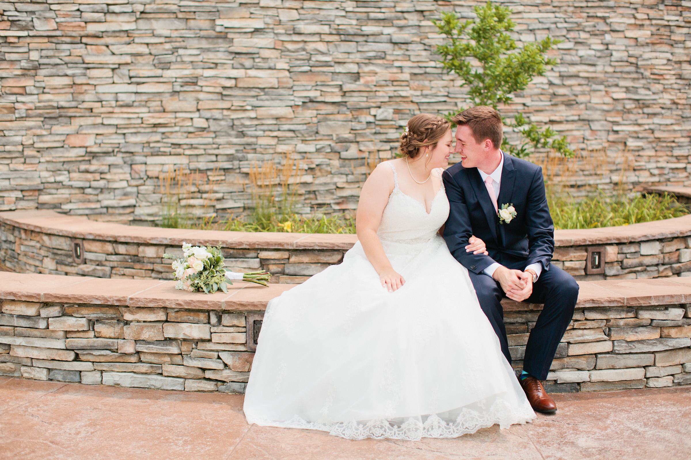 stone wedding venues with green trees
