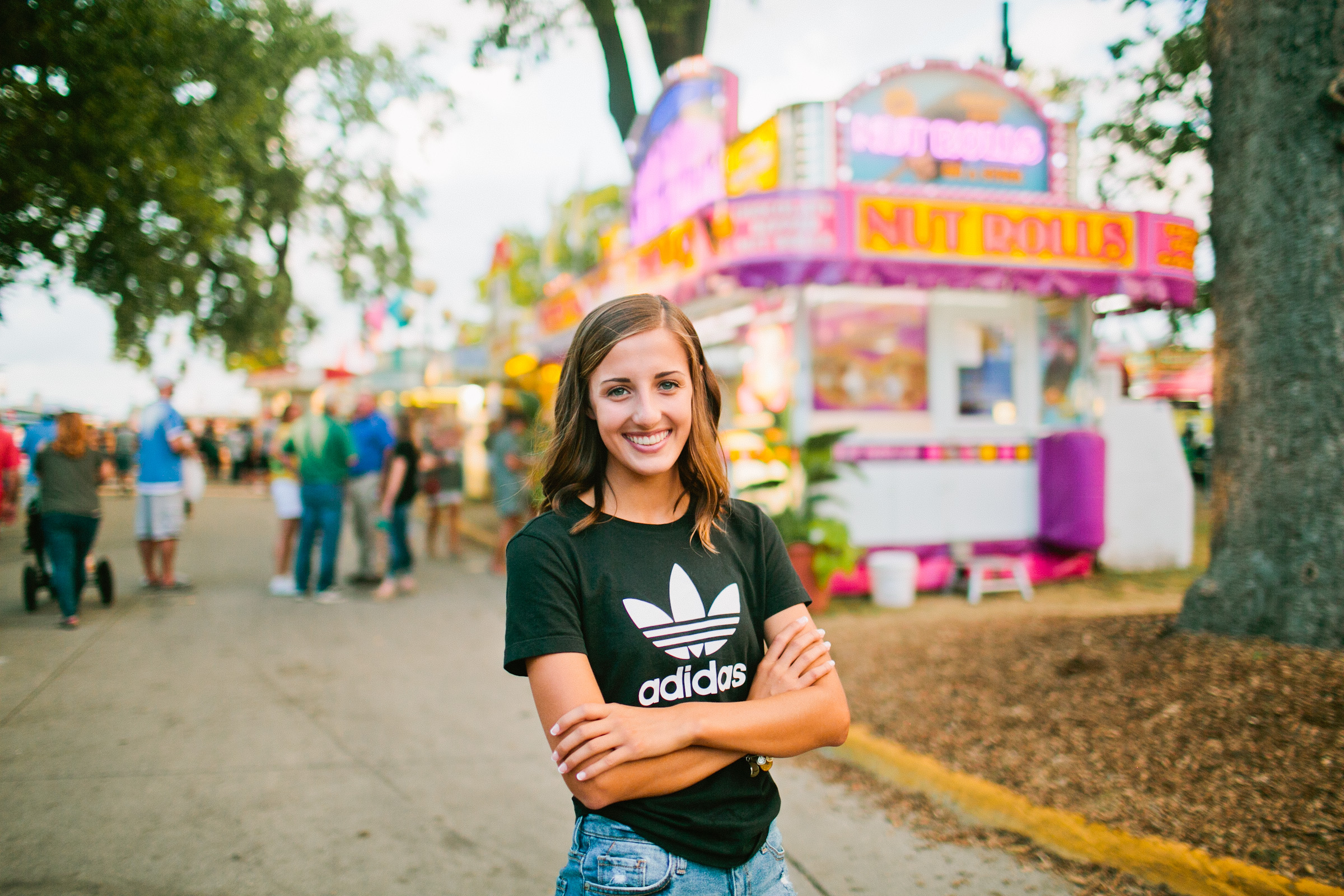 nut rolls and cotton candy and lemonade senior session Iowa State Fair 2018