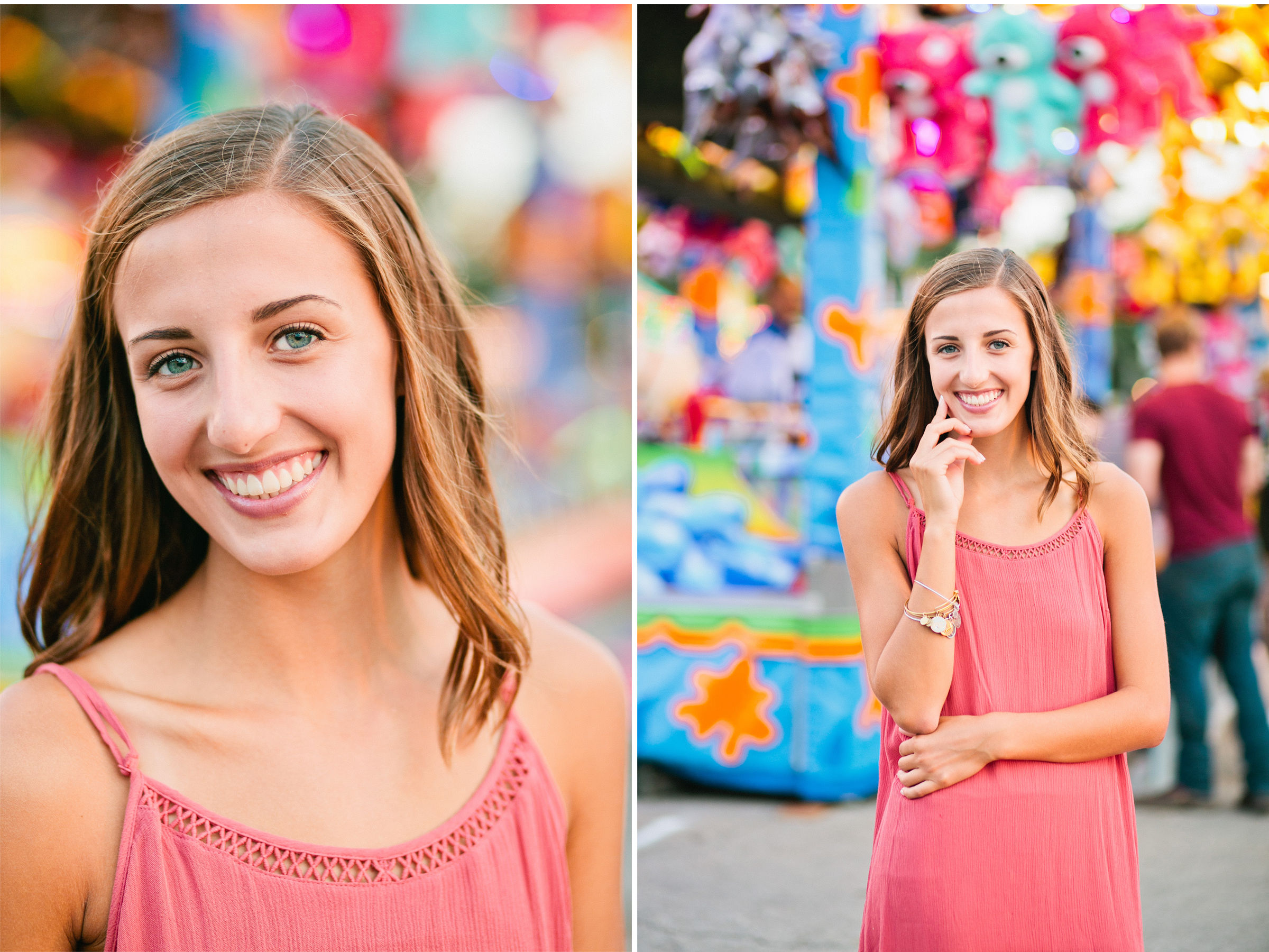 iowa state fair des moines senior photos midway games and lights