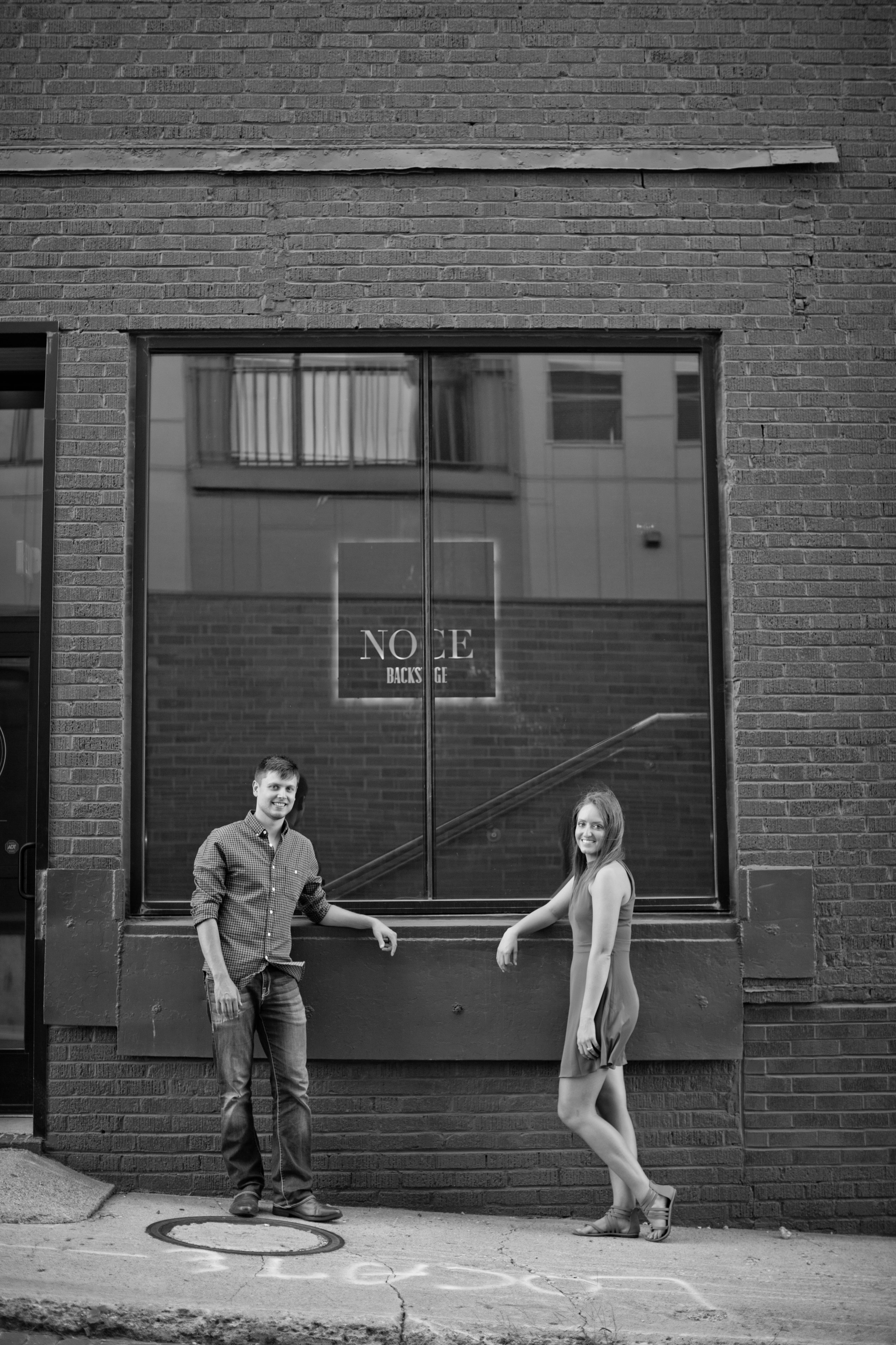 west des moines engagement photos in valley junction