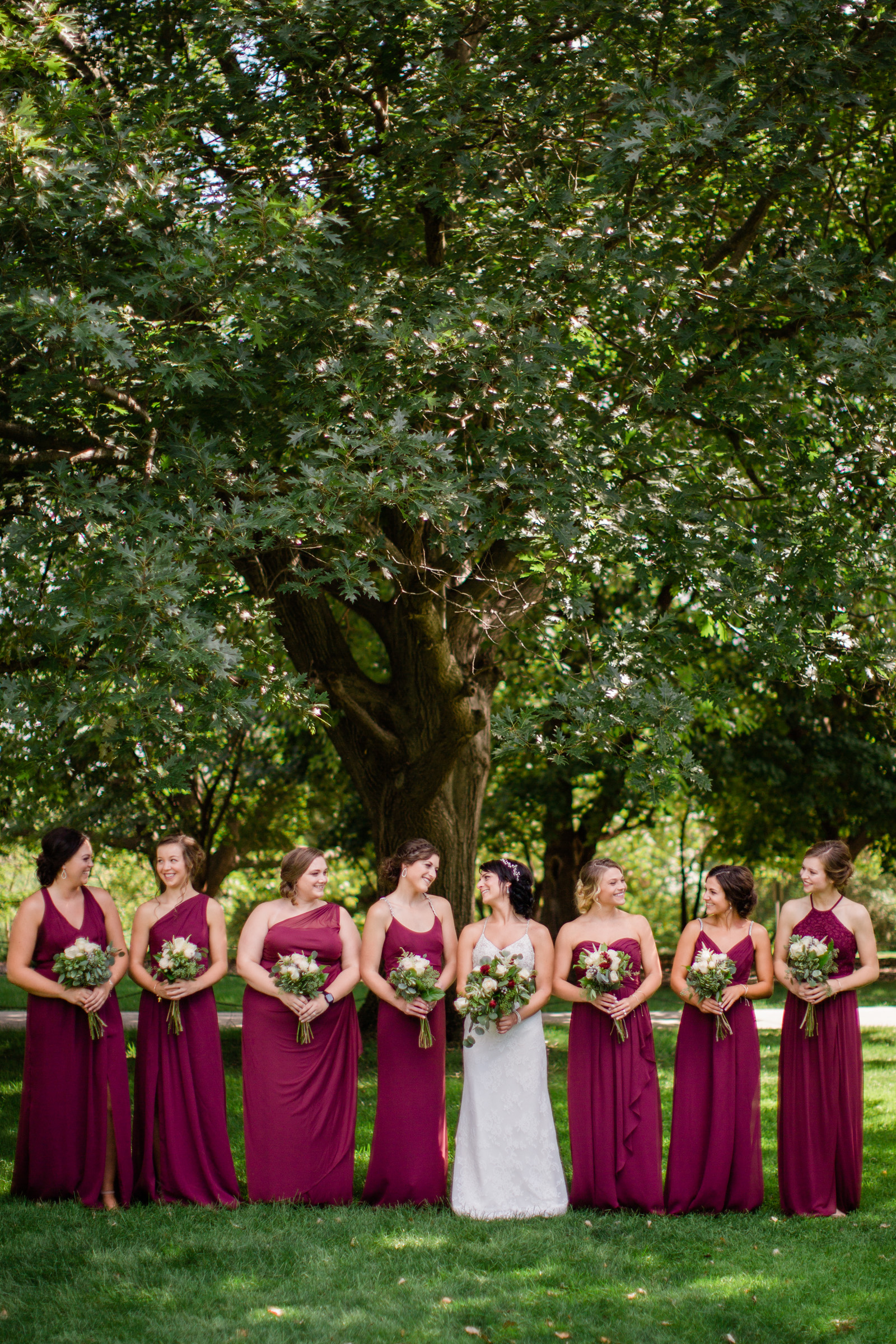 Ames iowa outdoor wedding venues Iowa State University bride and bridesmaids