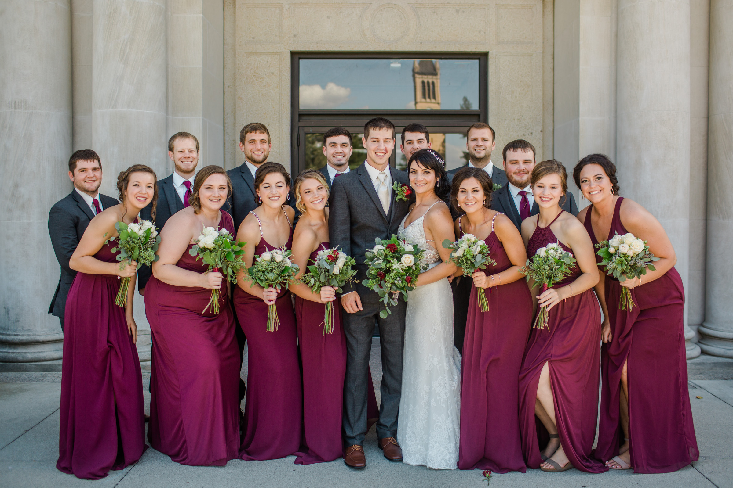 amelia renee photography bride groom bridal party group