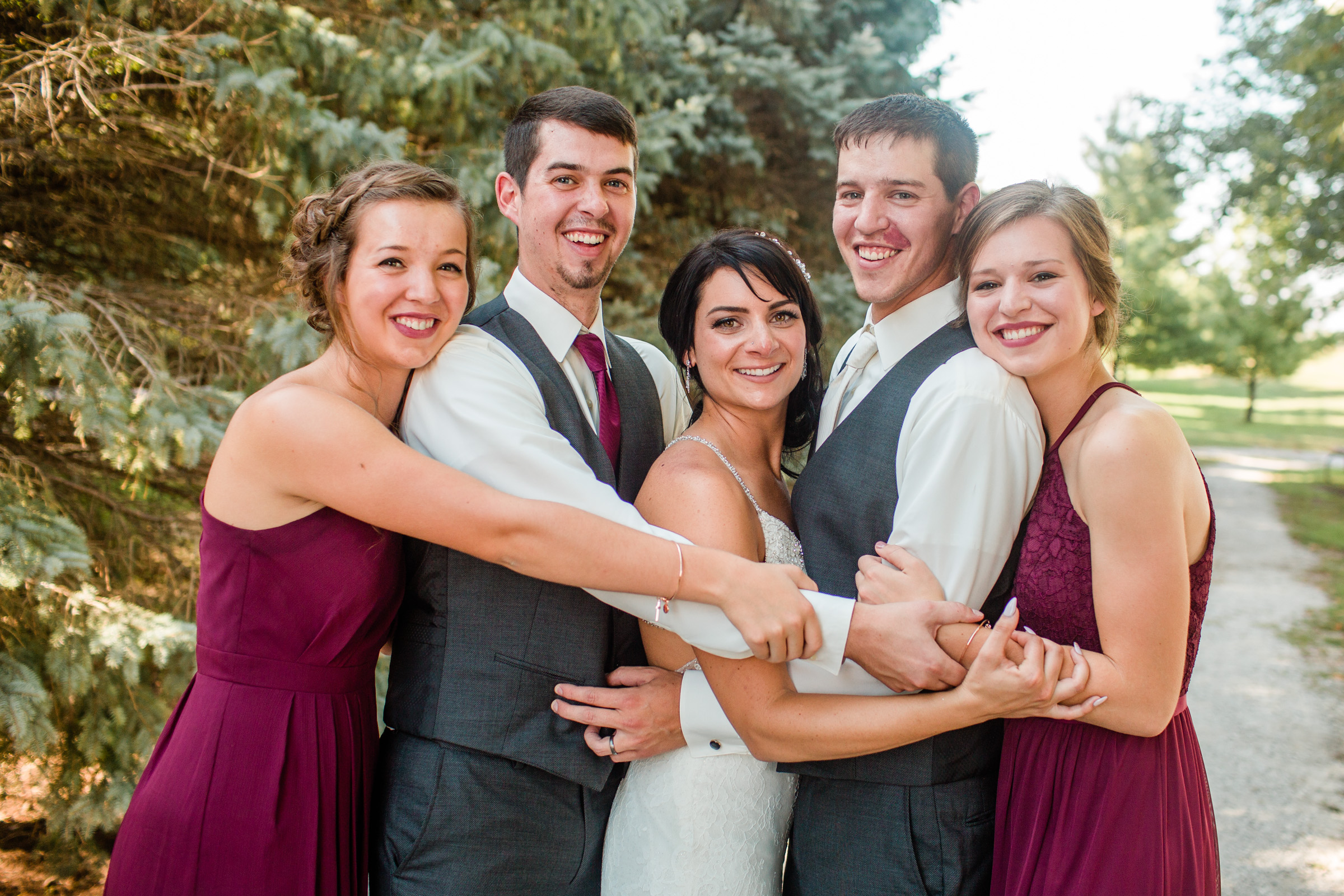 bride groom and siblings