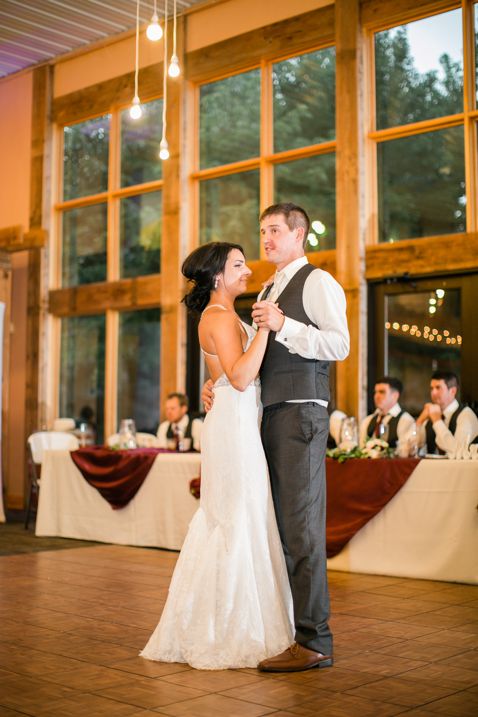 bride-groom-first-dance-wedding-winery-sunset