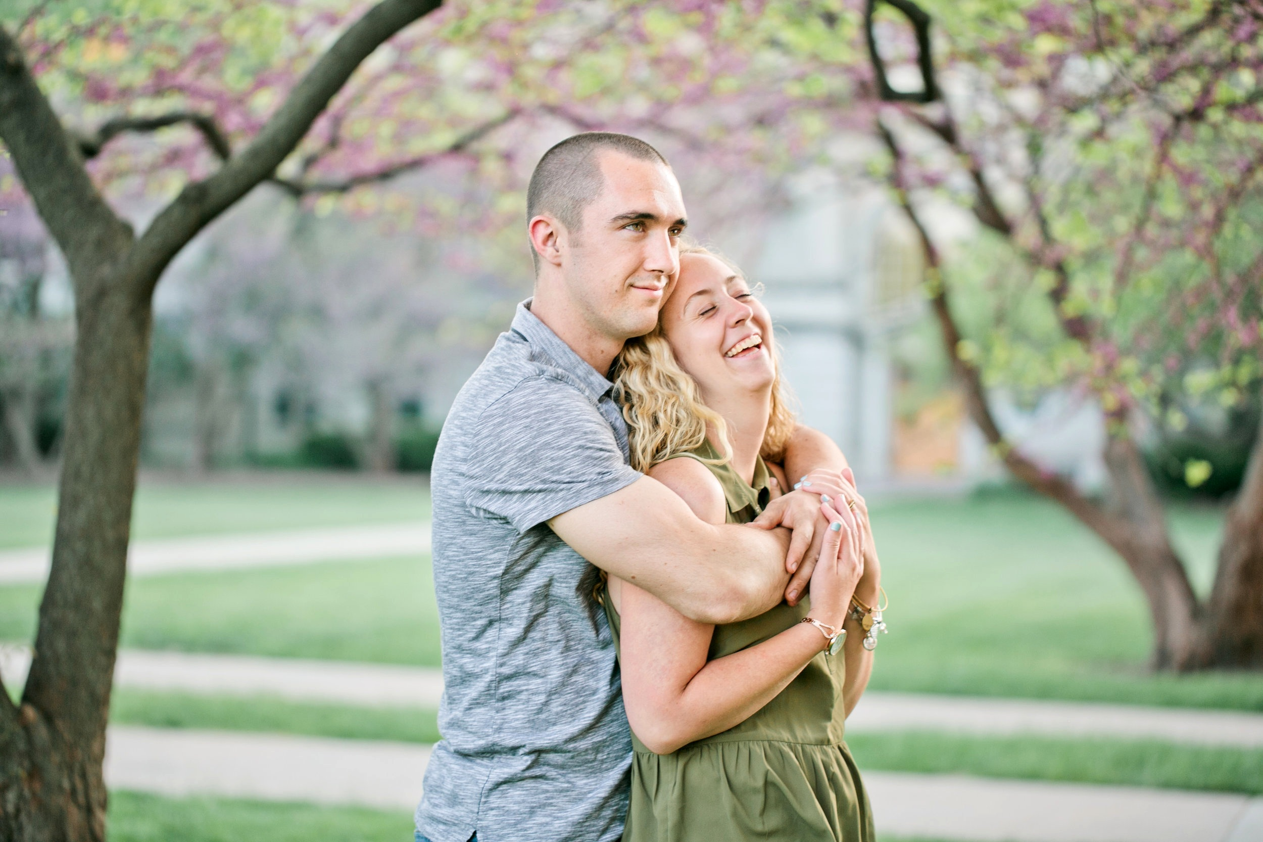 engagement photos in Ames Iowa during spring
