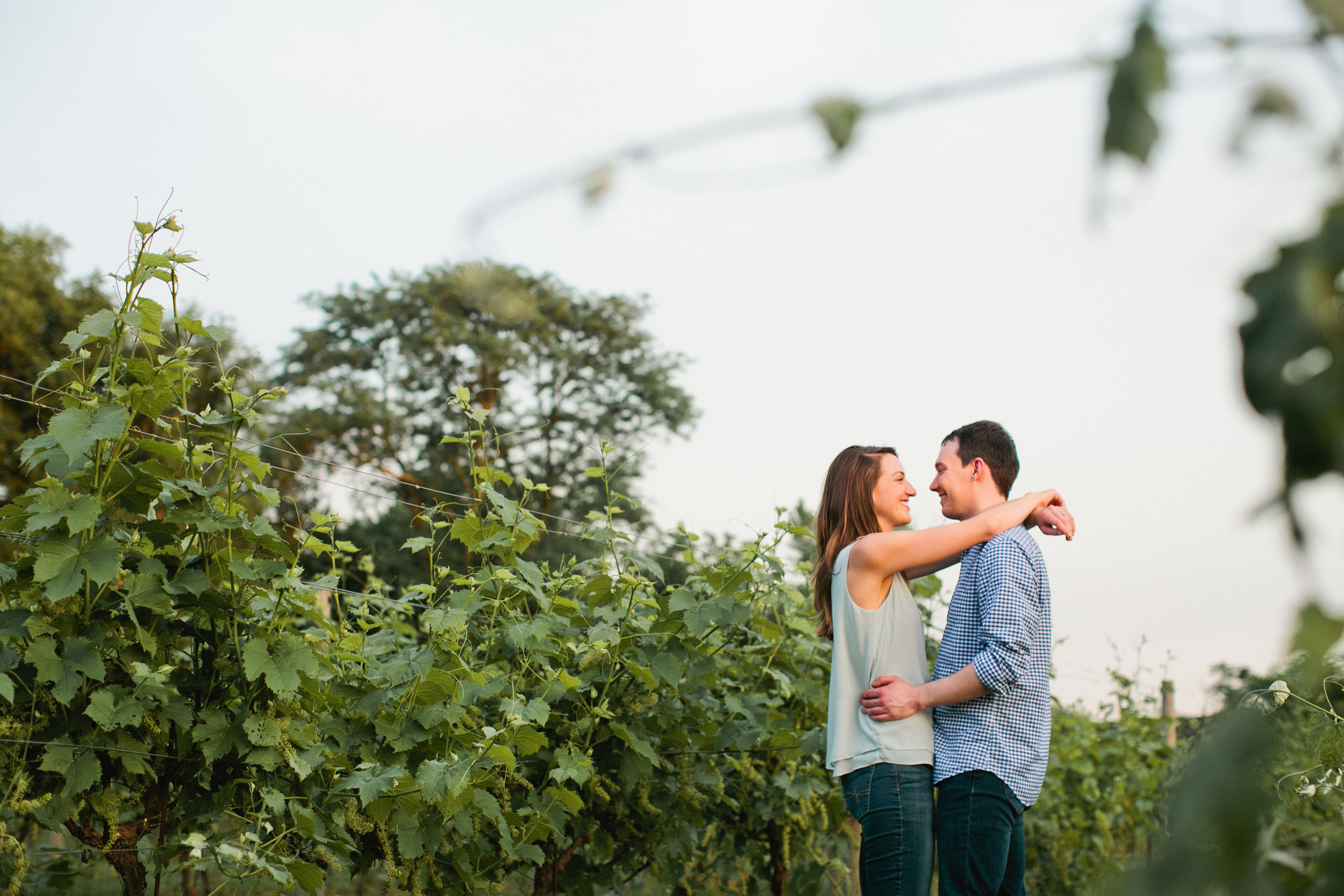 west des moines winery engagement photos brewery iowa
