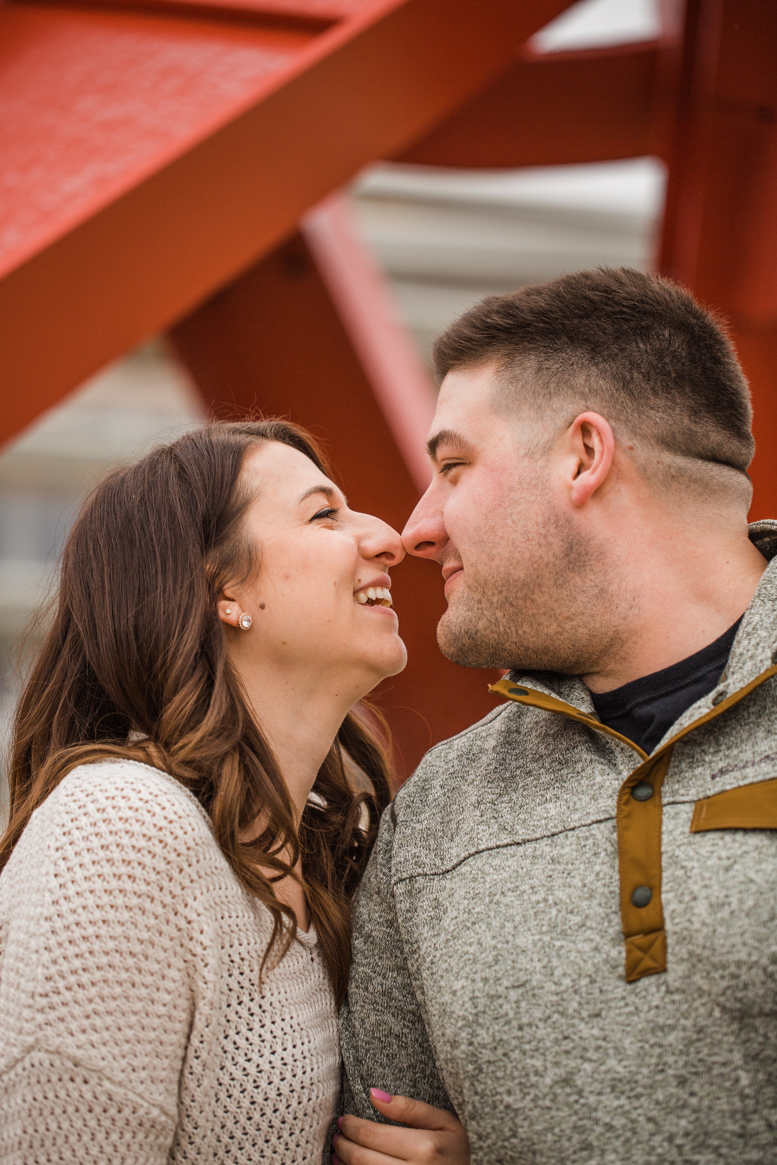 sculpture park wedding engagement photos des moines iowa
