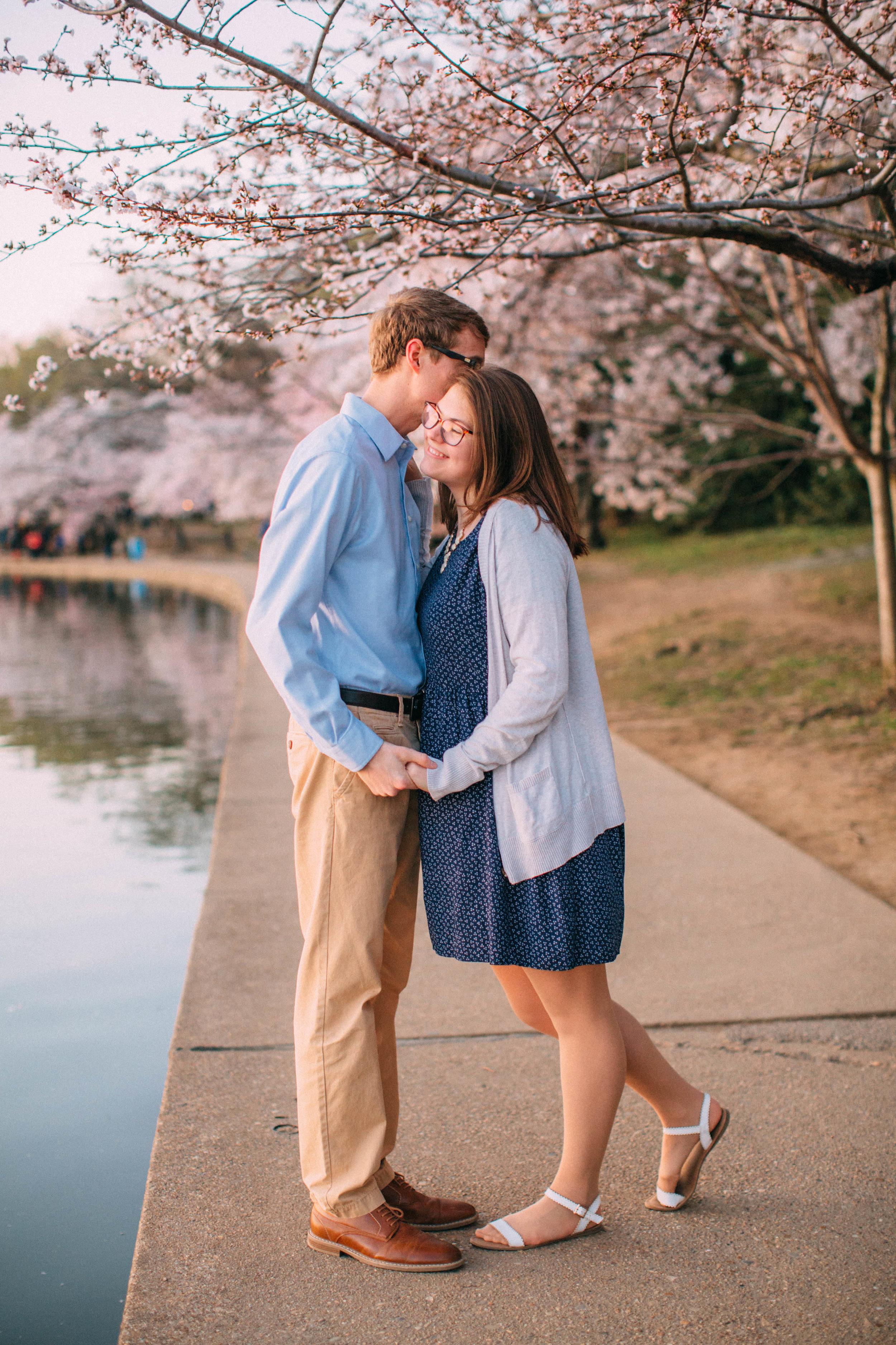 washington DC maryland engagement photos cherry blossom festival sunrise