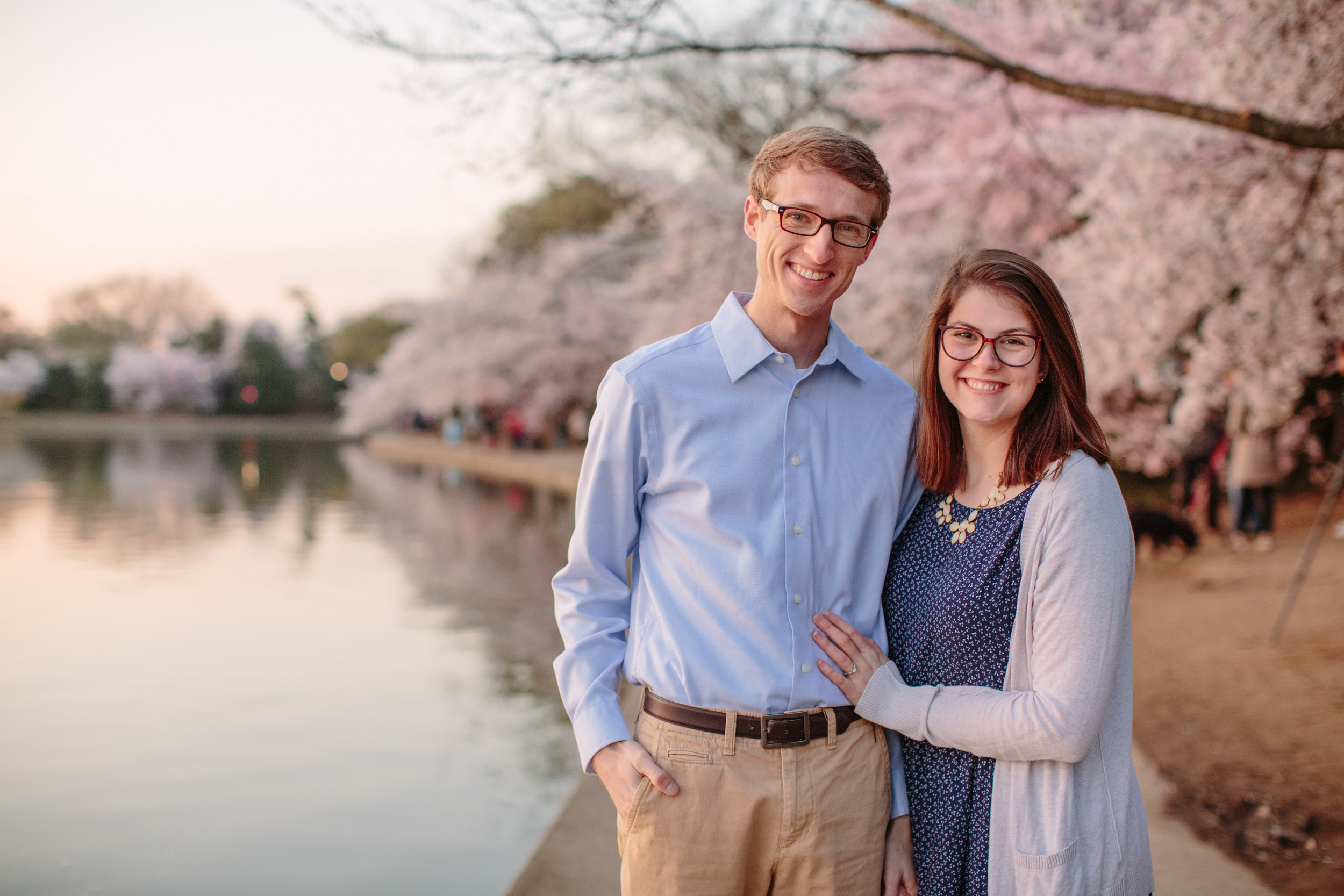 Washington DC engagement photographers cherry blossoms national mall