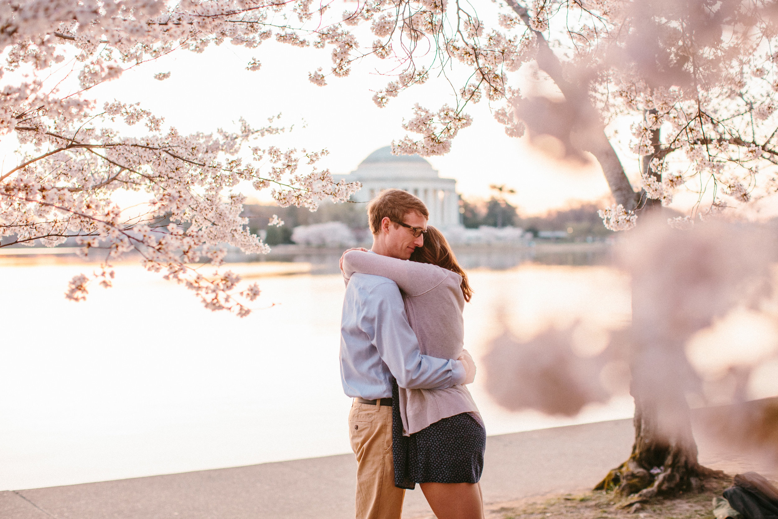 Cherry Blossoms Engagement Session | Tidal Basin | DC Wedding Photographer - Amelia Renee Photography- Portrait & Wedding Photographer