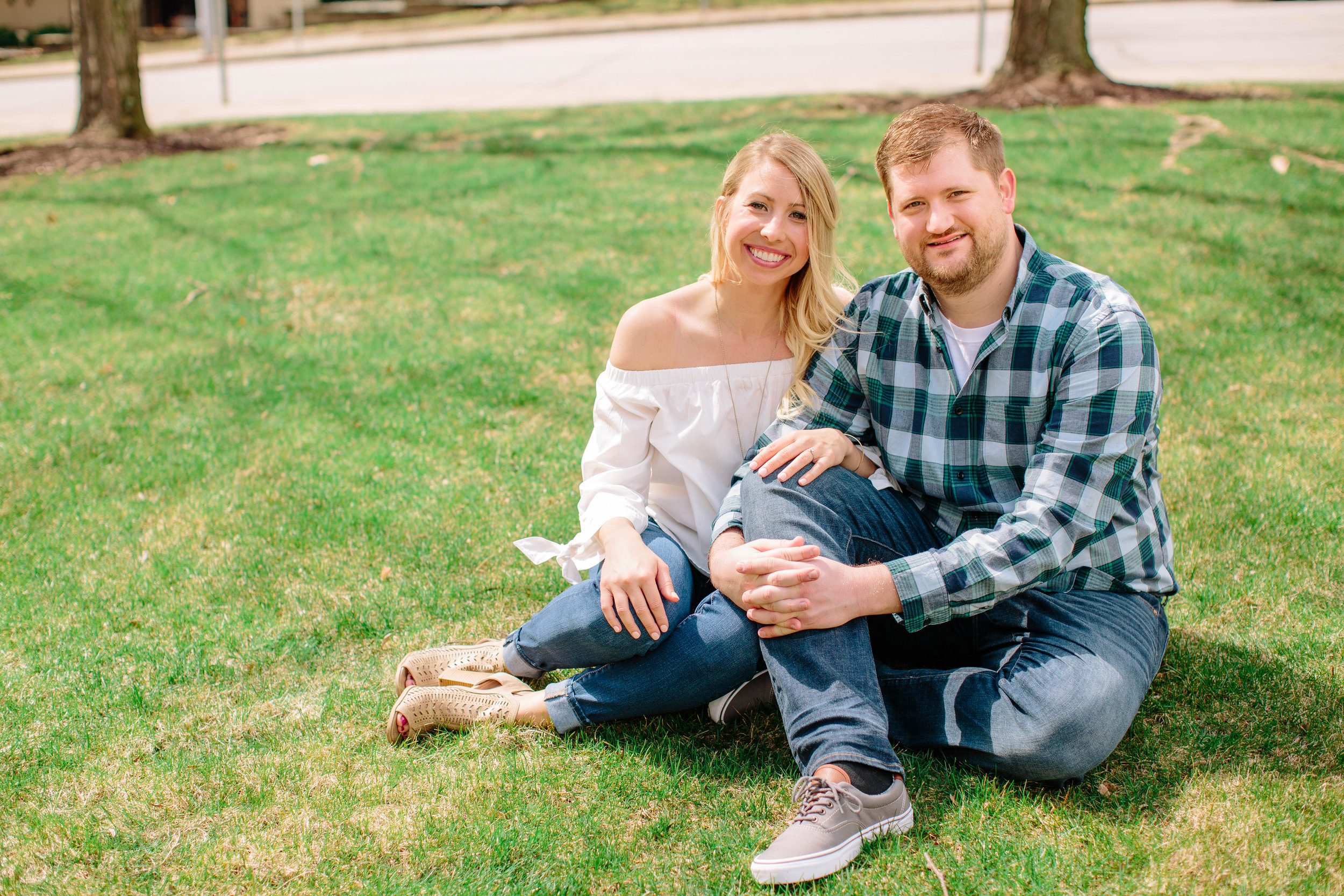 pella engagement photos downtown central college affordable wedding photographers