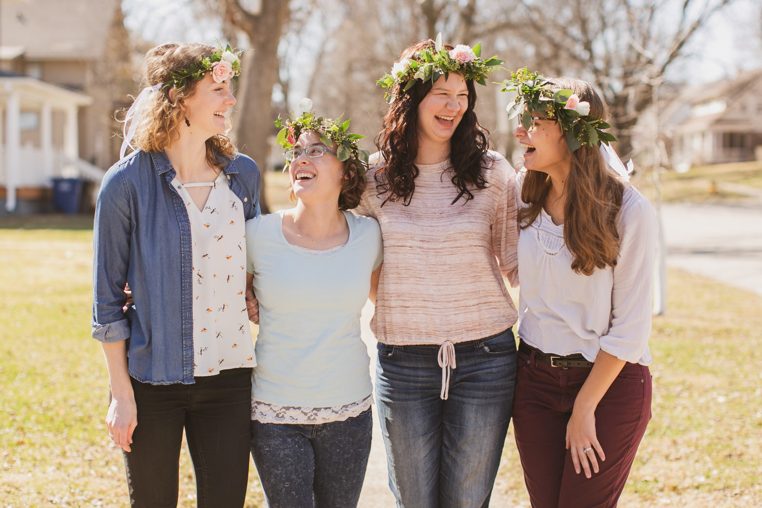 flower crown making party in des moines iowa
