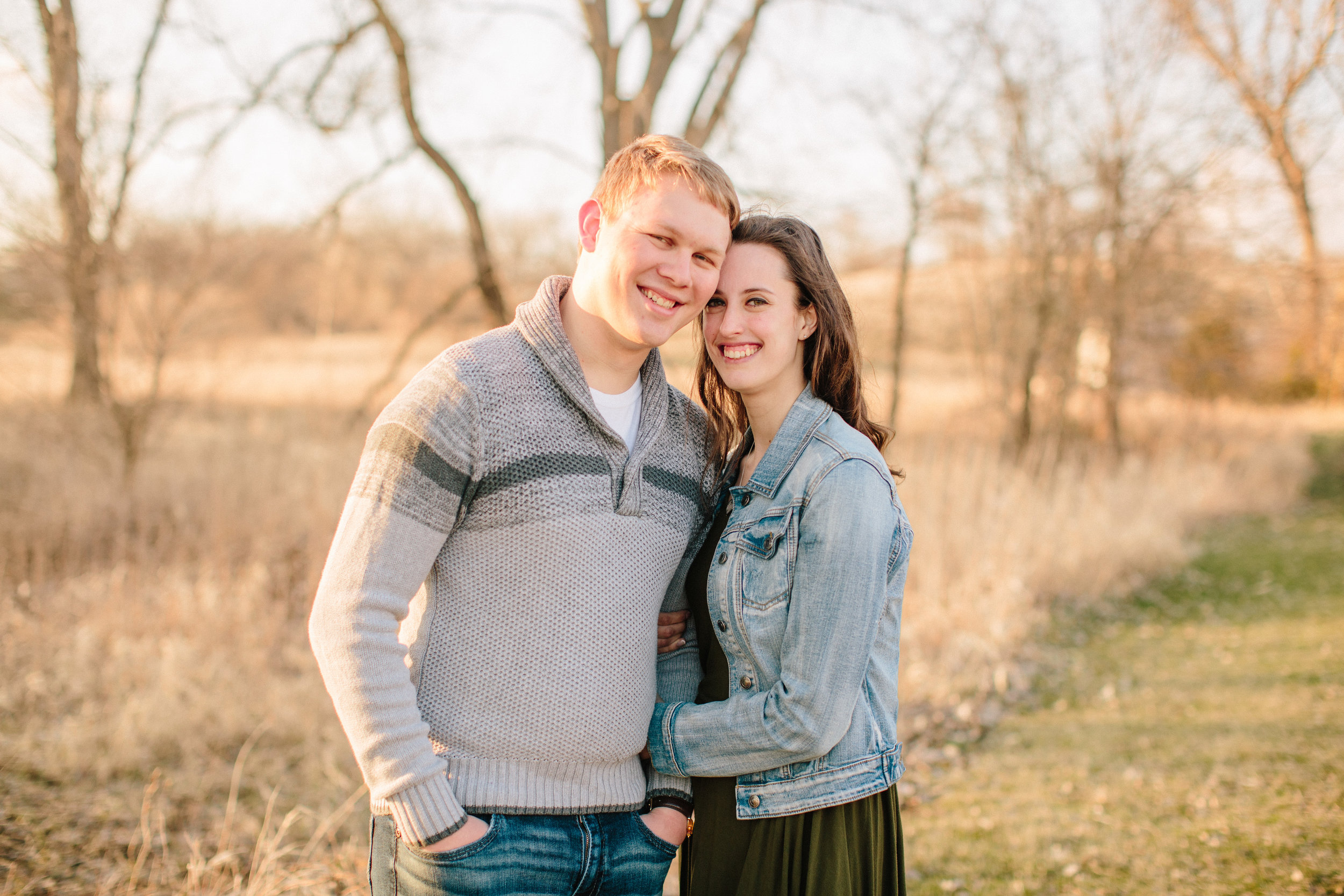 gabby david amelia renee engagement photos in the spring Des Moines Iowa