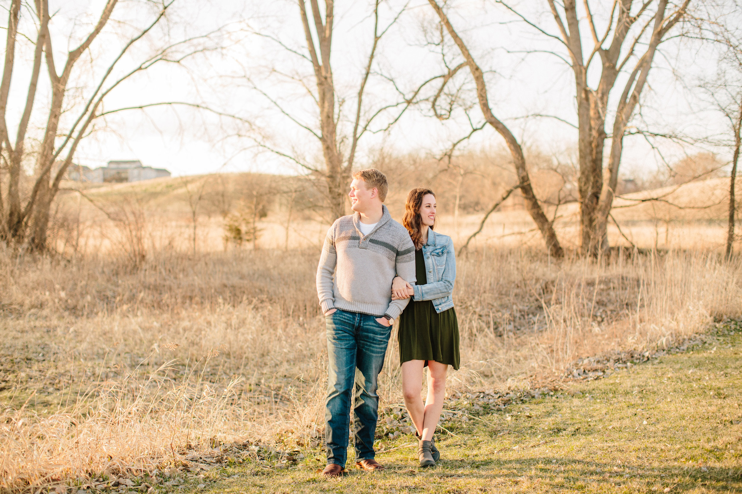 Fall engagemnet pictures in Des Moines