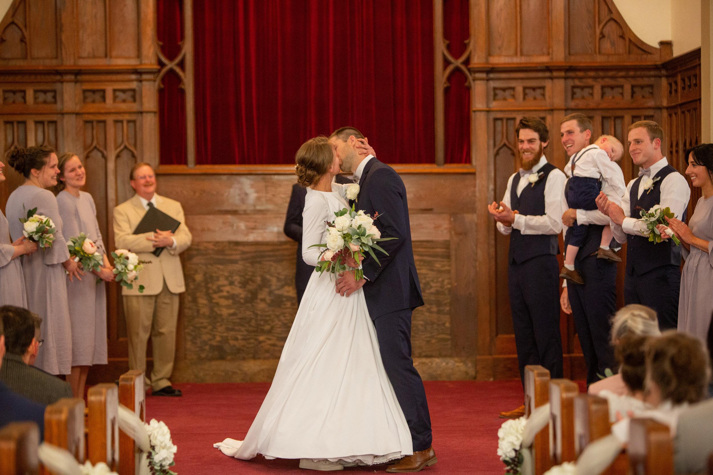 first kiss wedding alter