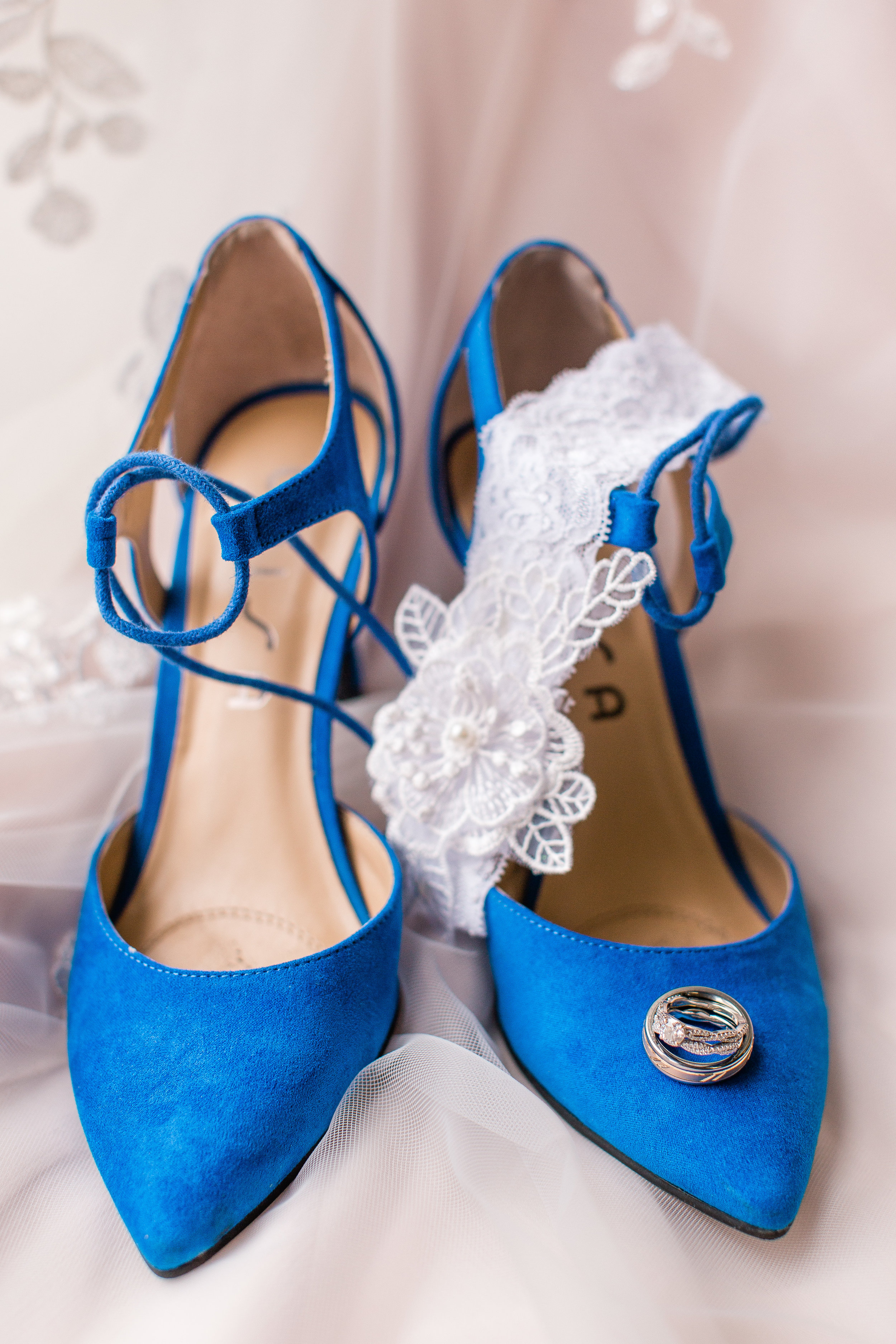 norwalk and cumming Iowa wedding blue suede wedding heels