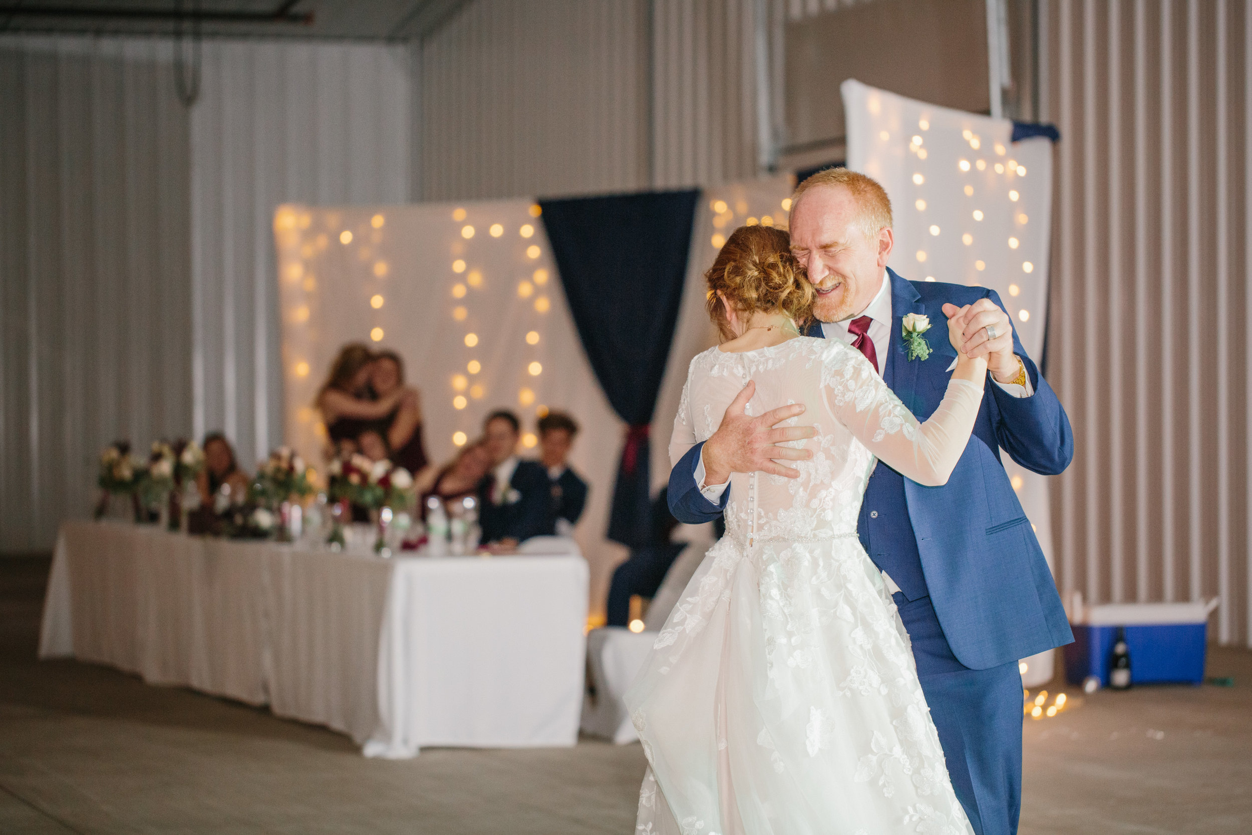 emotional father daughter dance at wedding crying