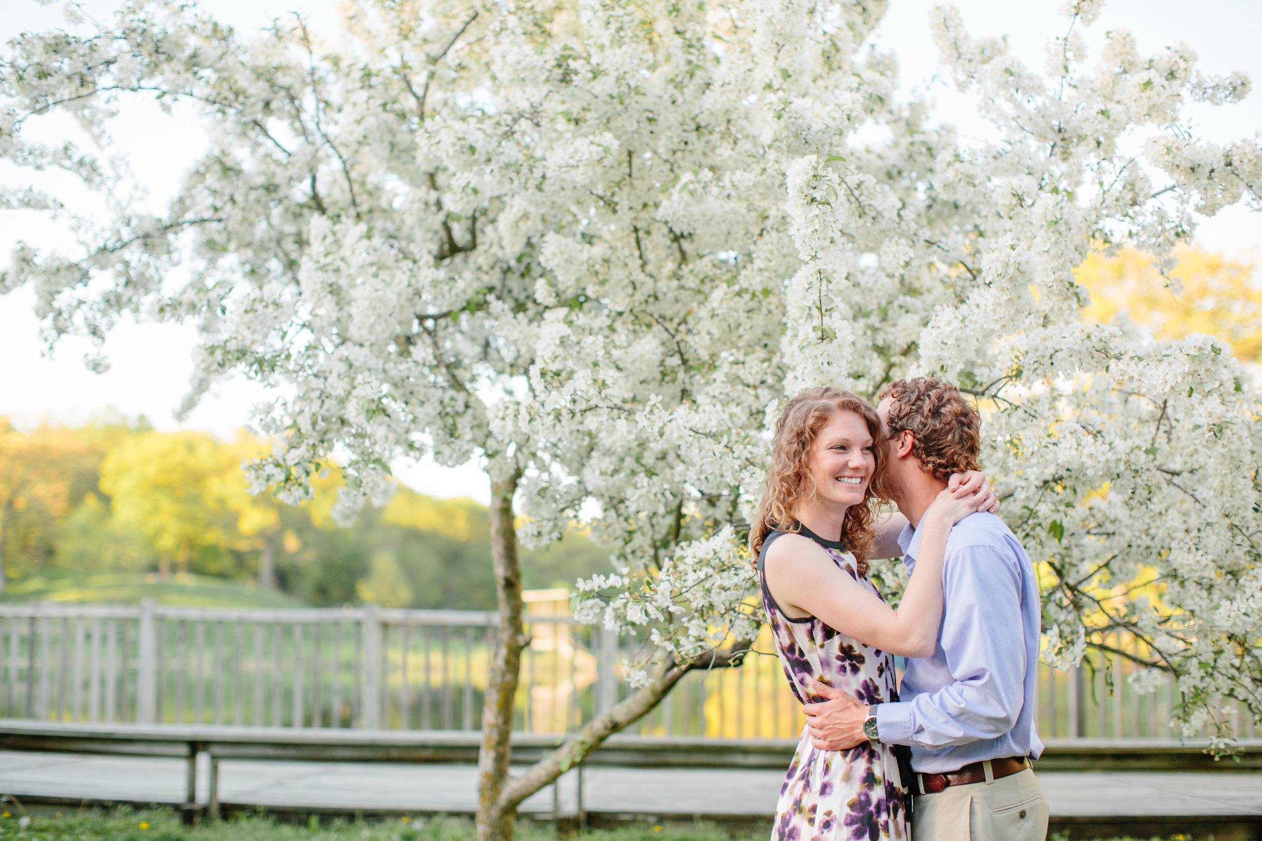 greenwood park in spring engagement photos