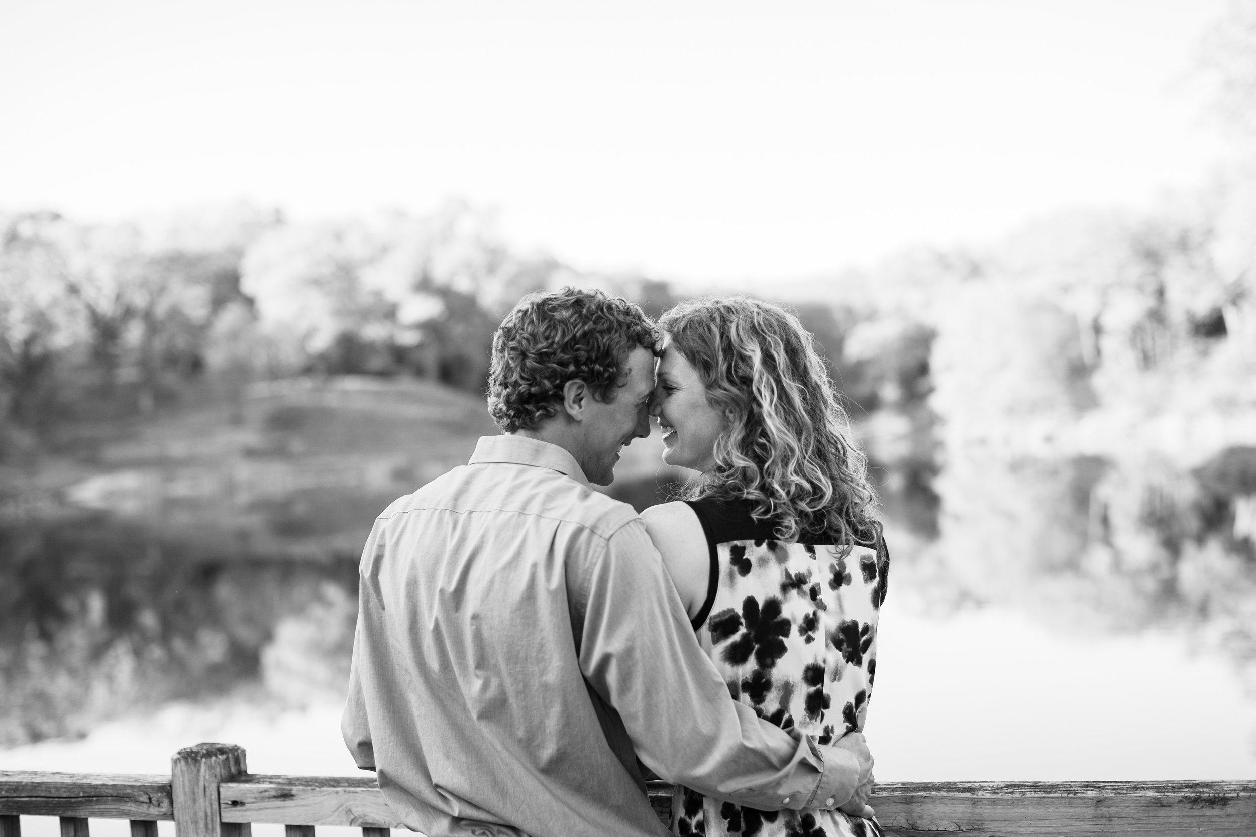 smart looking couple black and white engagement photos des moines downtown park