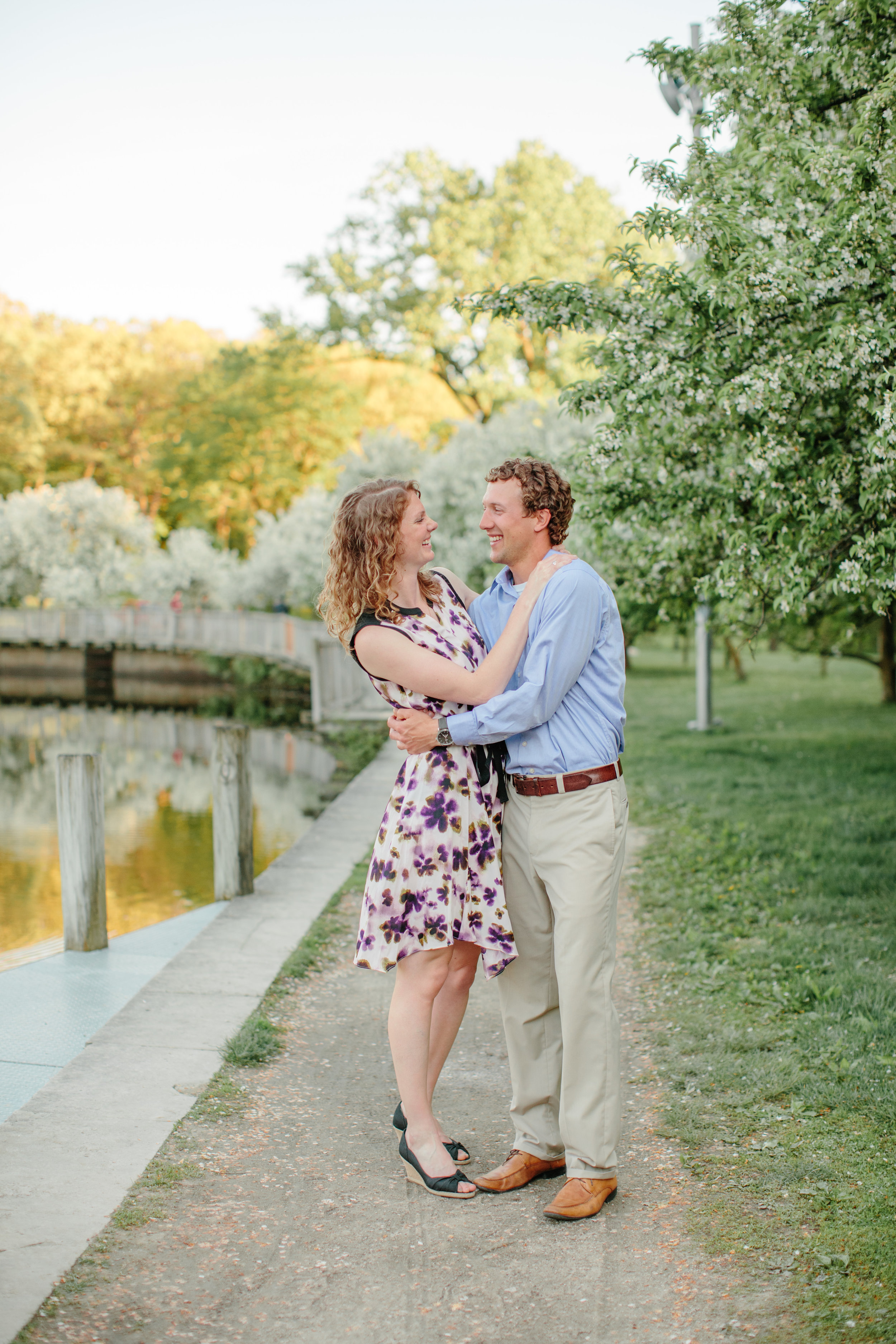 I had so much fun exploring downtown Des Moines for photos with you two. What a great spring engagement session!