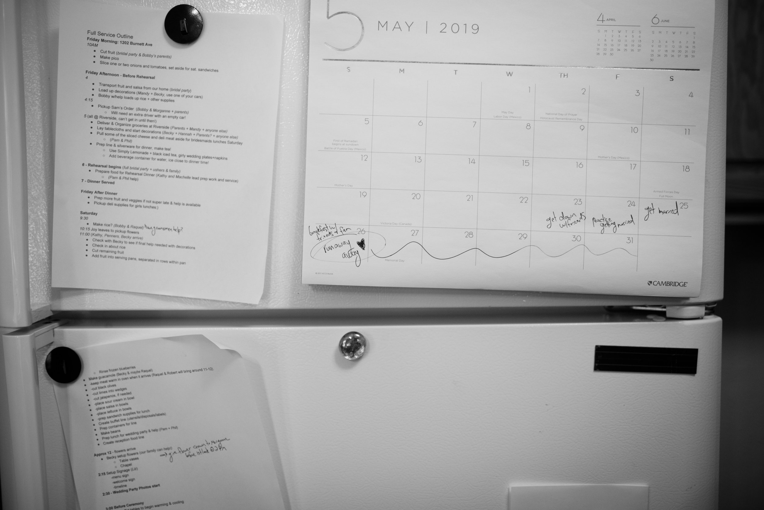 Morganne has the sweetest way with words … zoom in to read her calendar :)