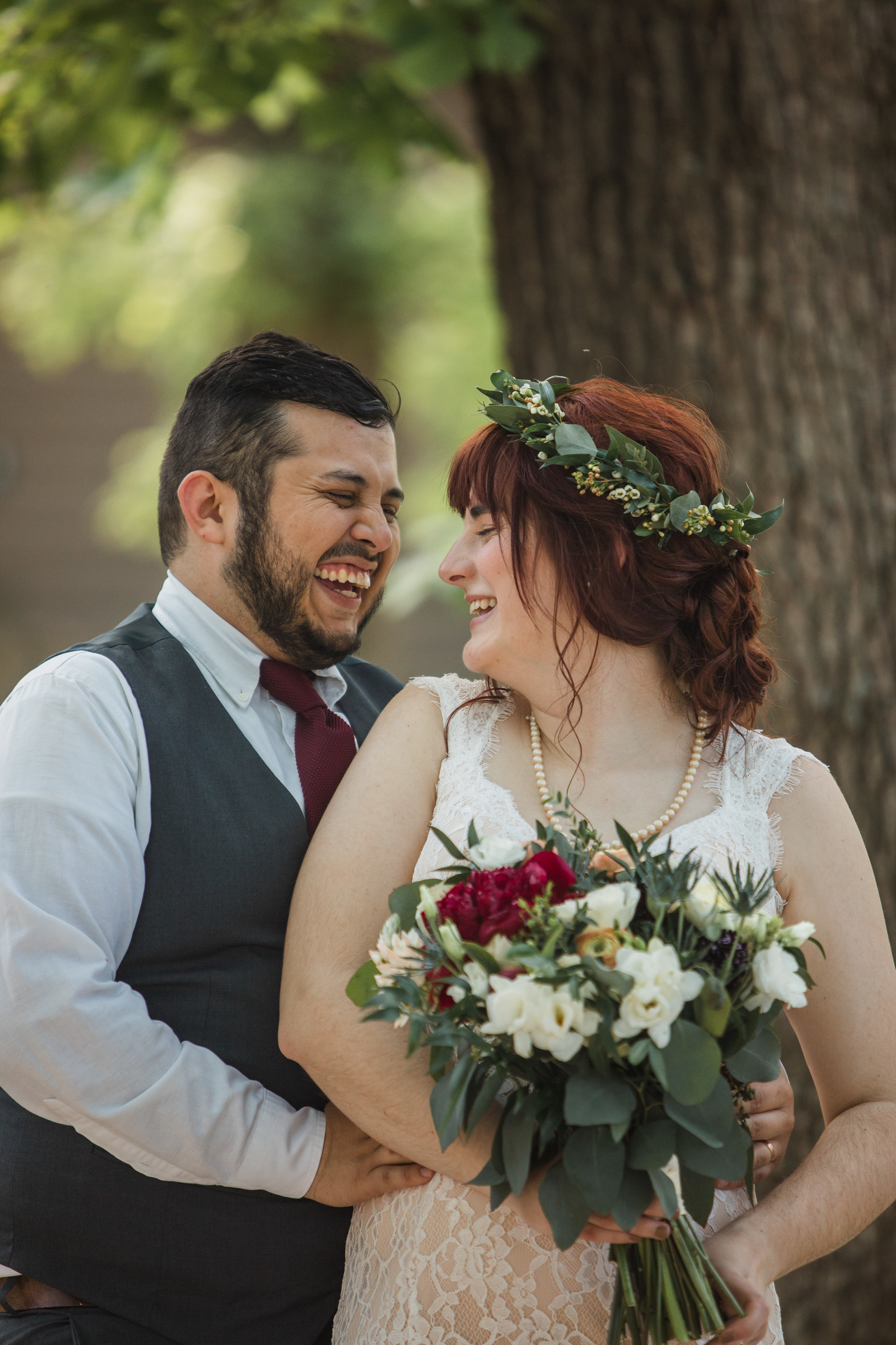bride and groom right after getting married portraits des moines iowa weddings
