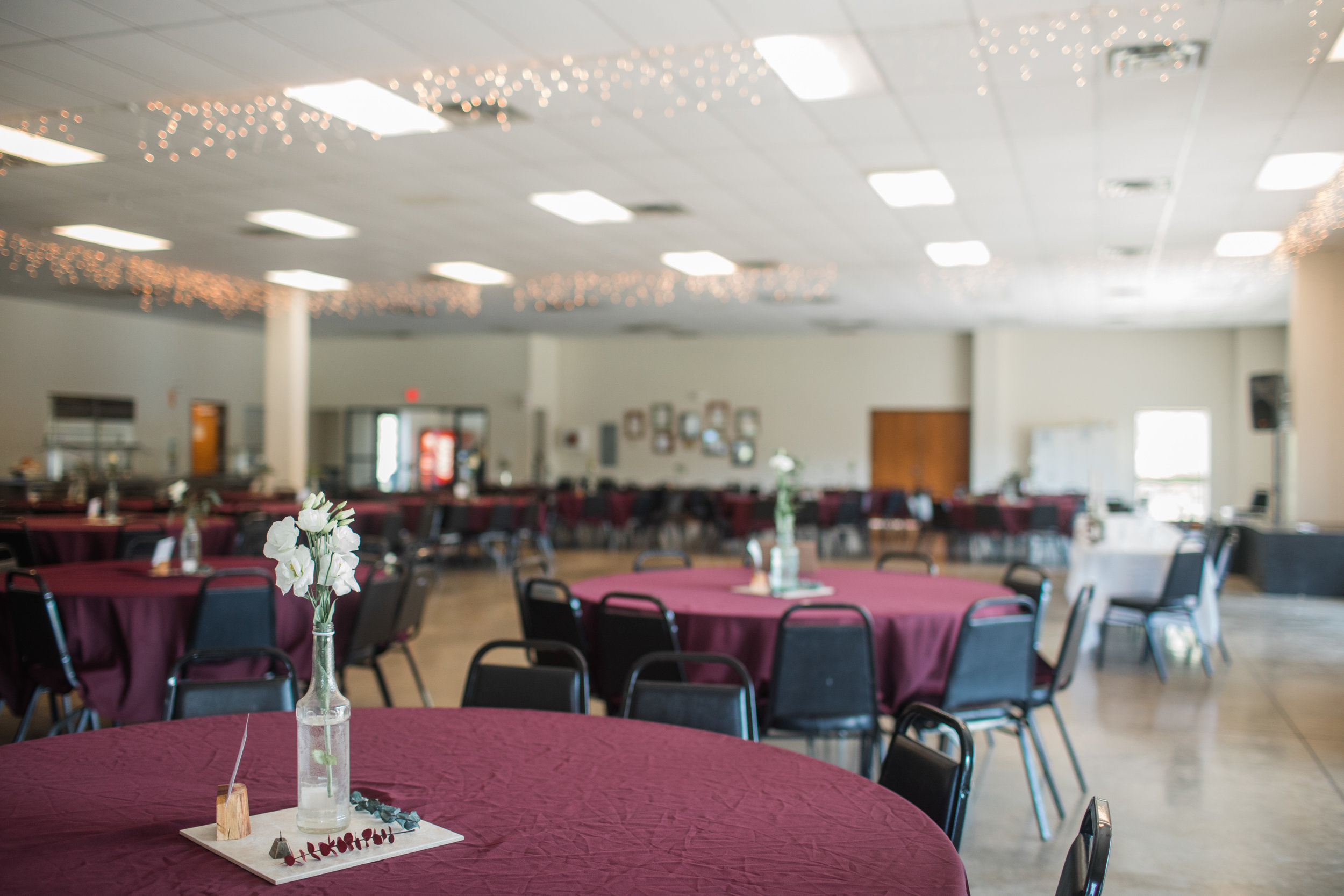wedding space at riverside bible camp in story city