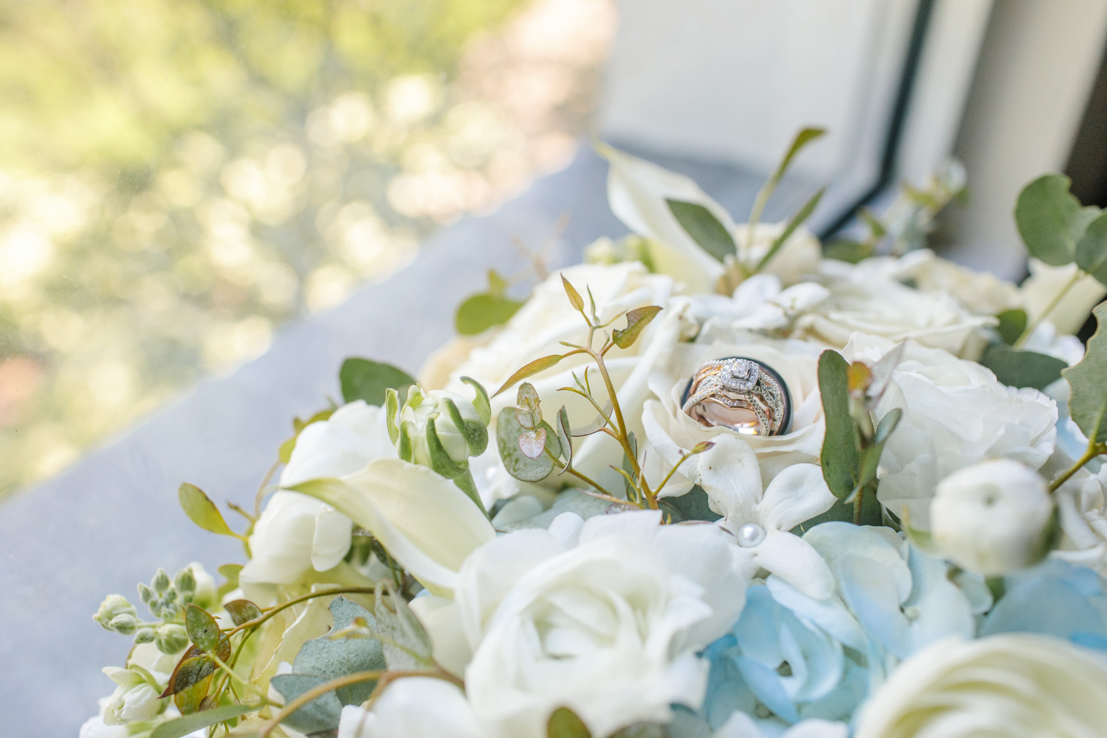 sparkly wedding ring ornate