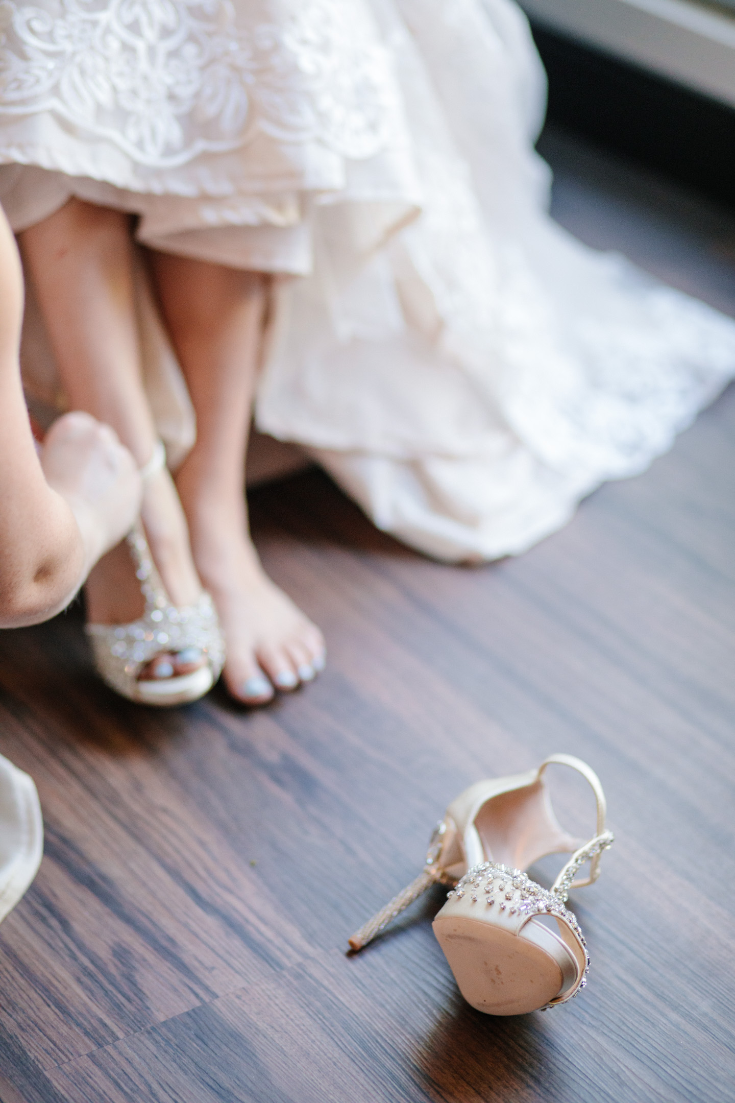 wedding shoes with lots of sparkles