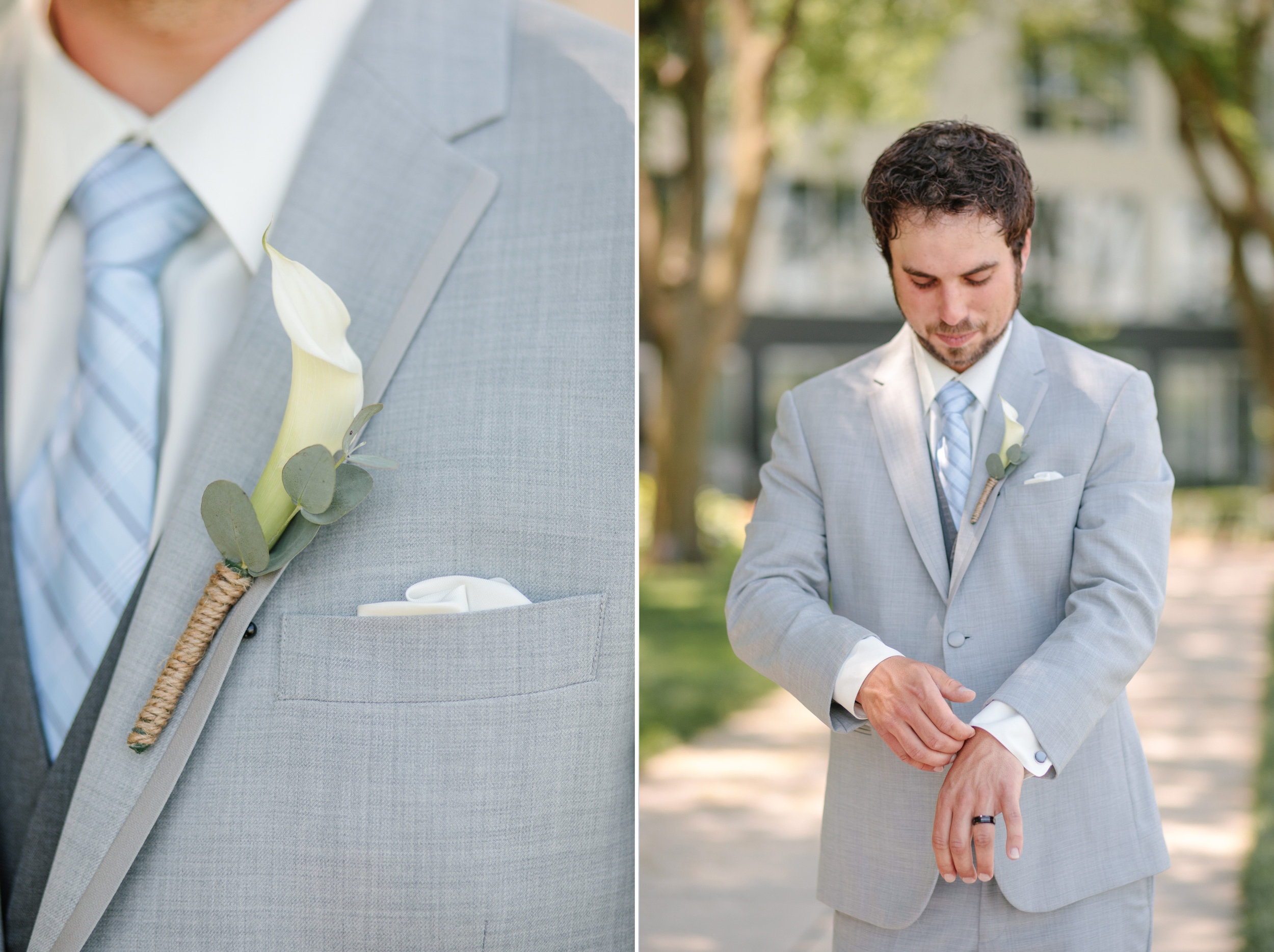 groom portraits wedding photos des moines iowa boutonniere