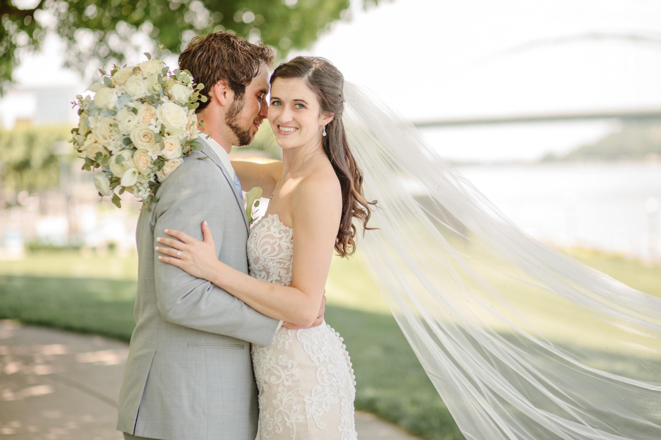 wedding day portraits like film Iowa wedding photographers