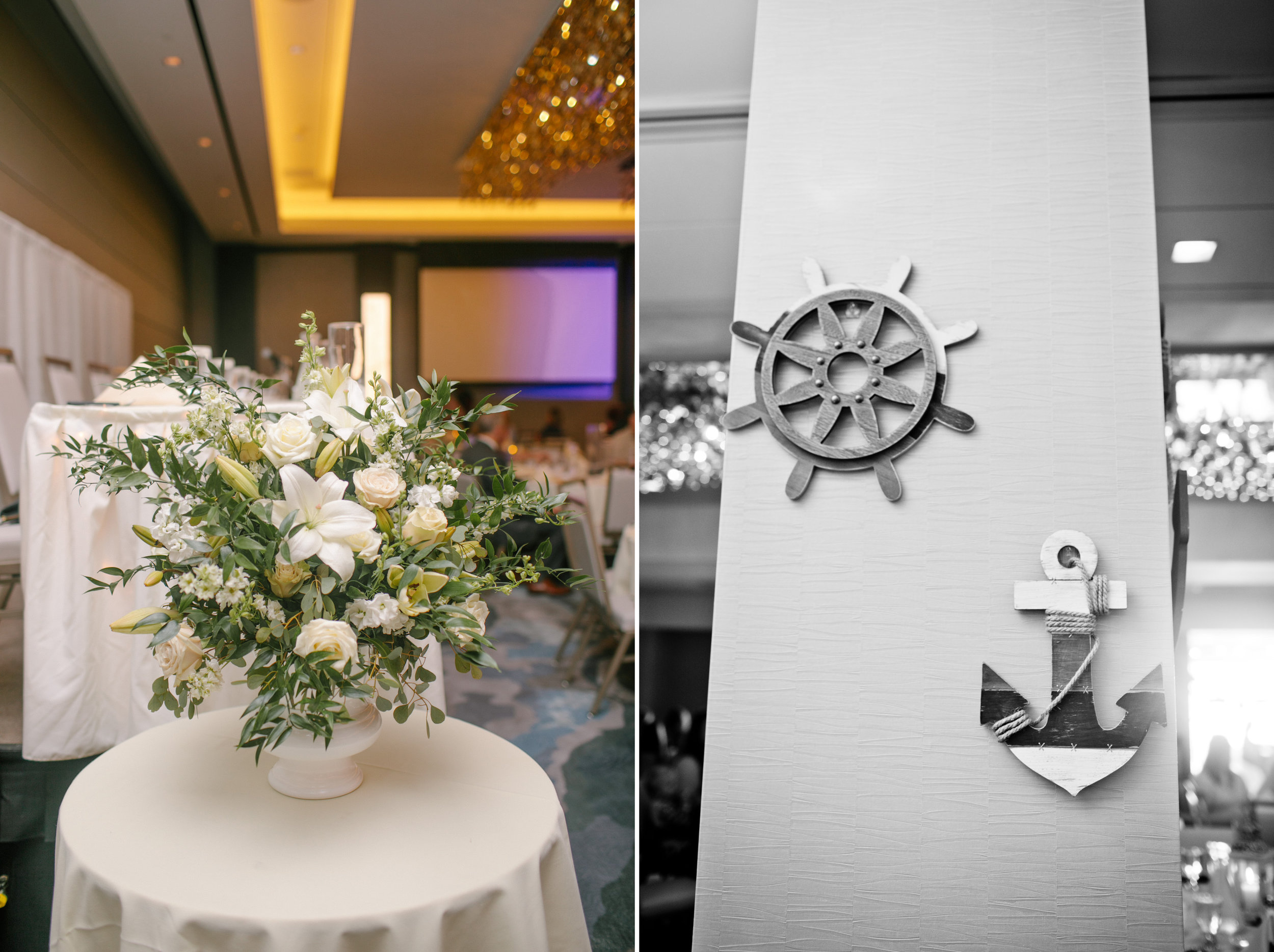 nautical themed wedding decor