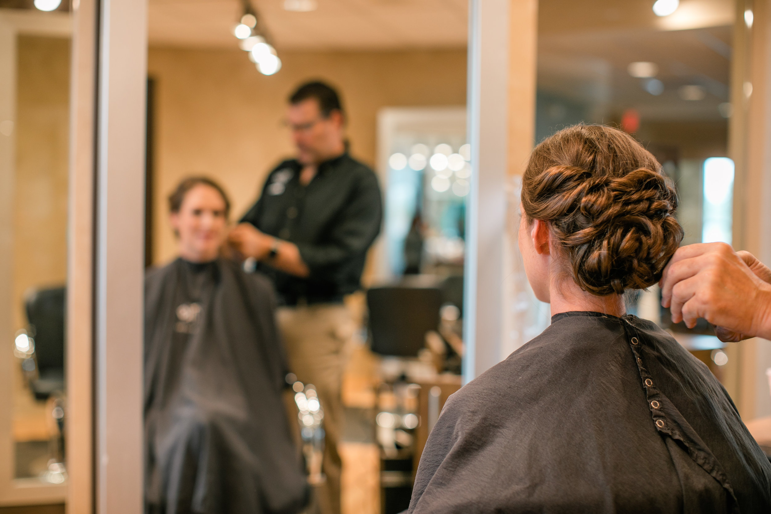 wedding hair and makeup estilo salon west des moines