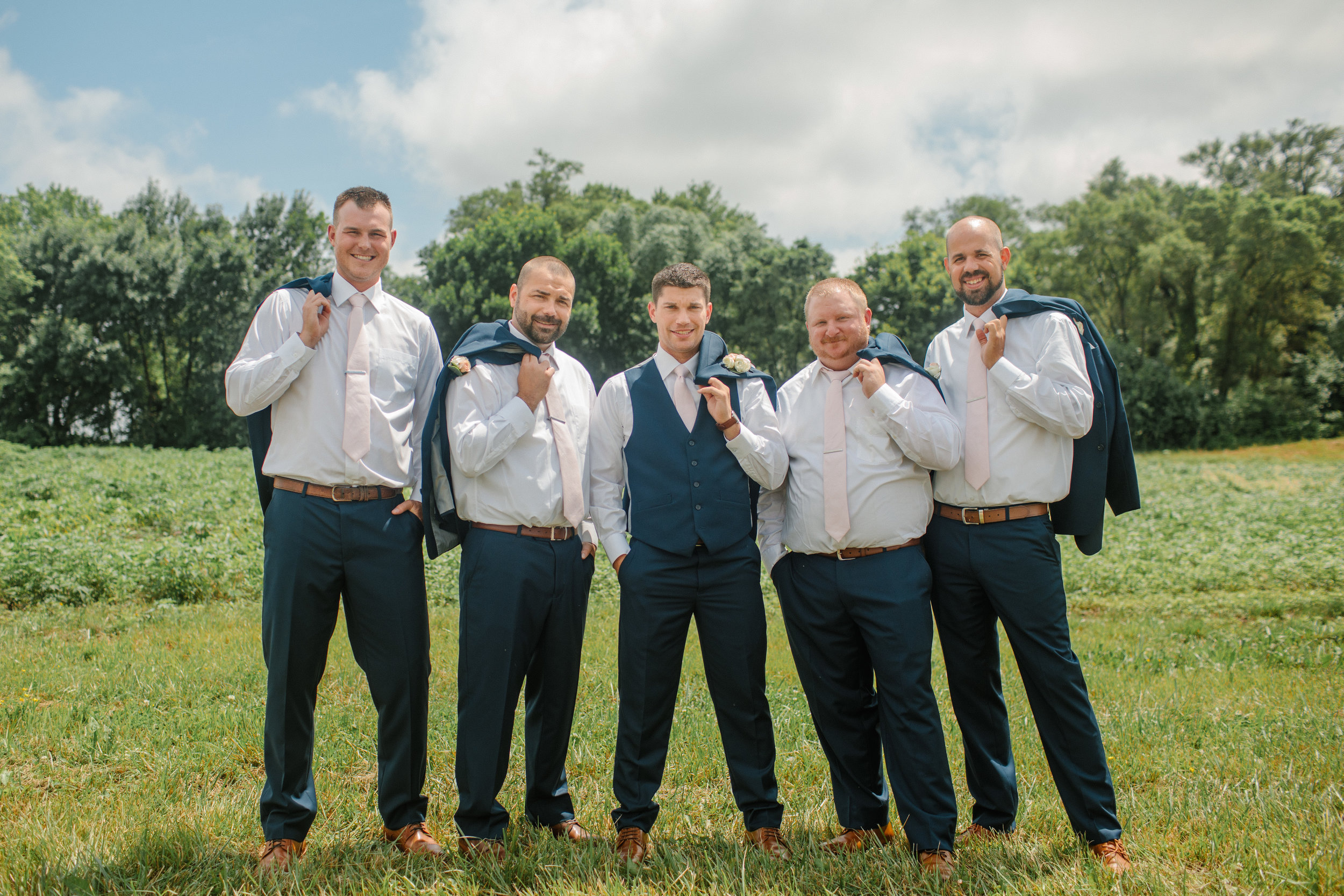 west des moines groom and groomsment in suits