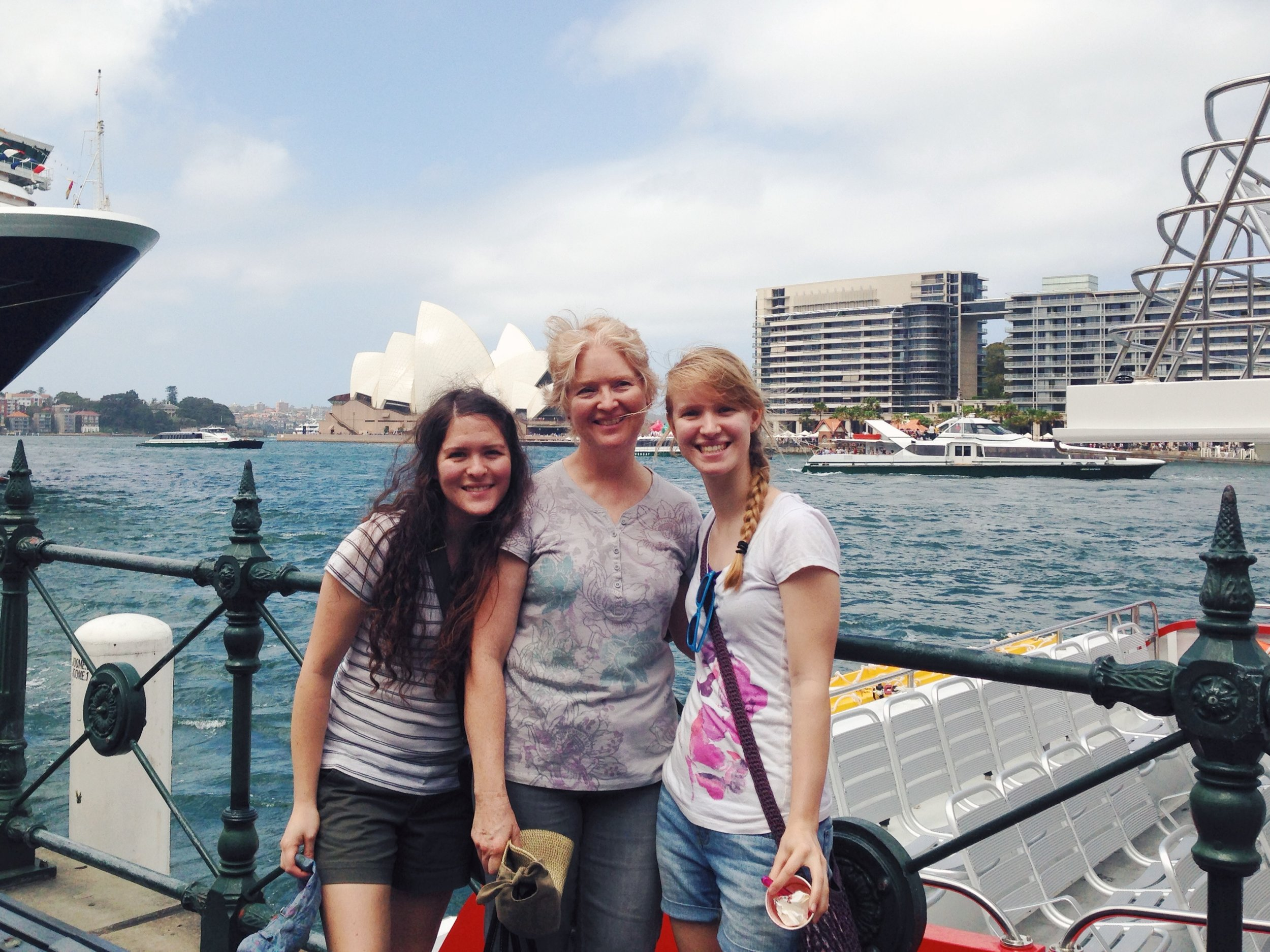 amelia judy and clarissa by the sydney opera house
