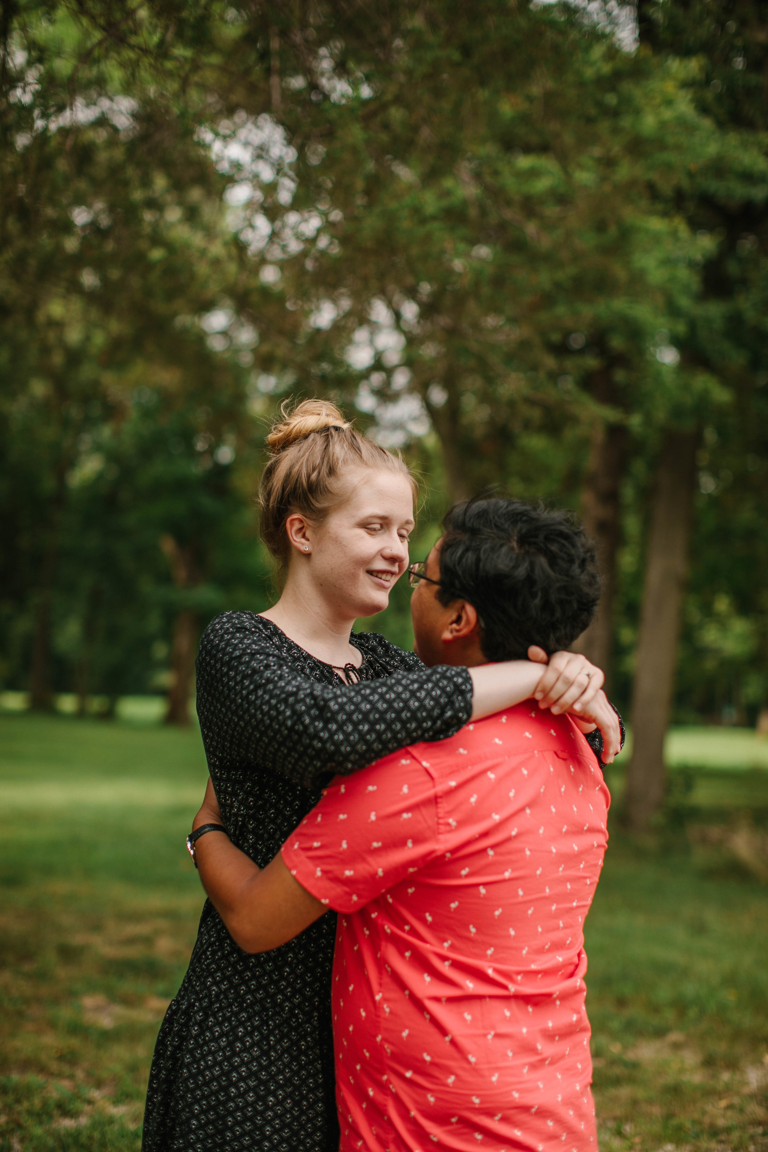 Amelia is a waterloo cedar falls wedding photographer who specializes in candid and fun engagement and wedding photography