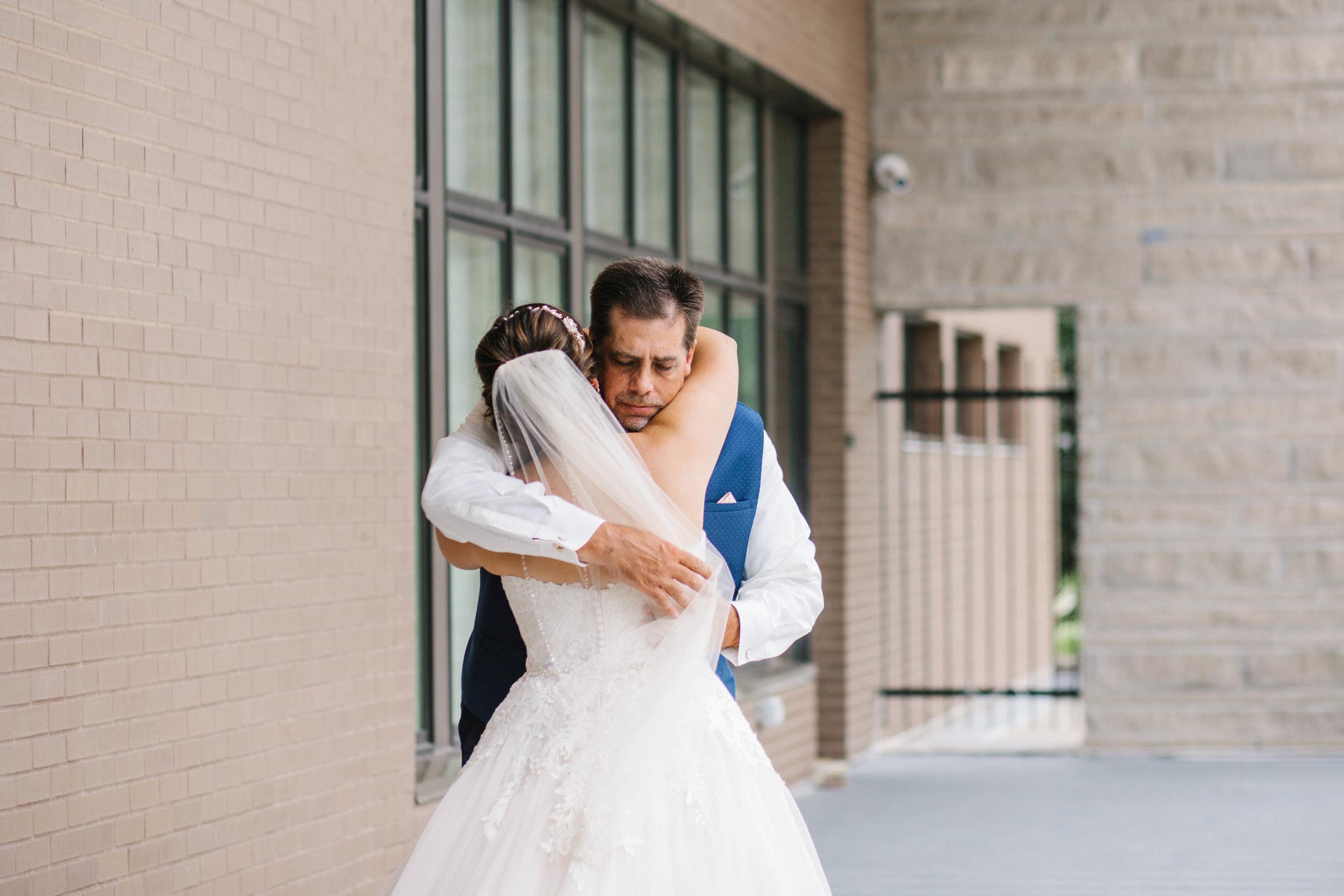 cedar falls iowa weddings first look with dad bride