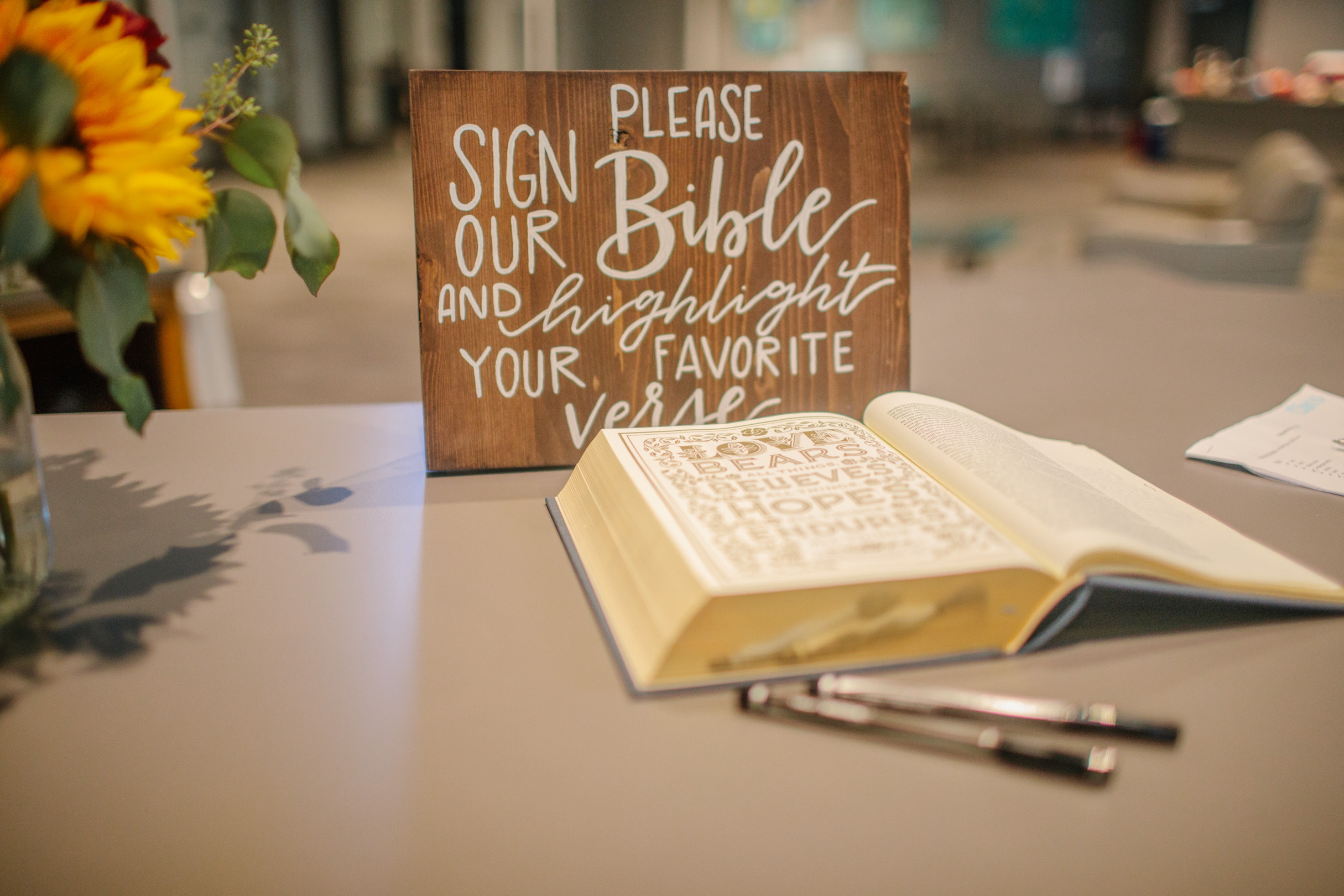 bible to sign for wedding