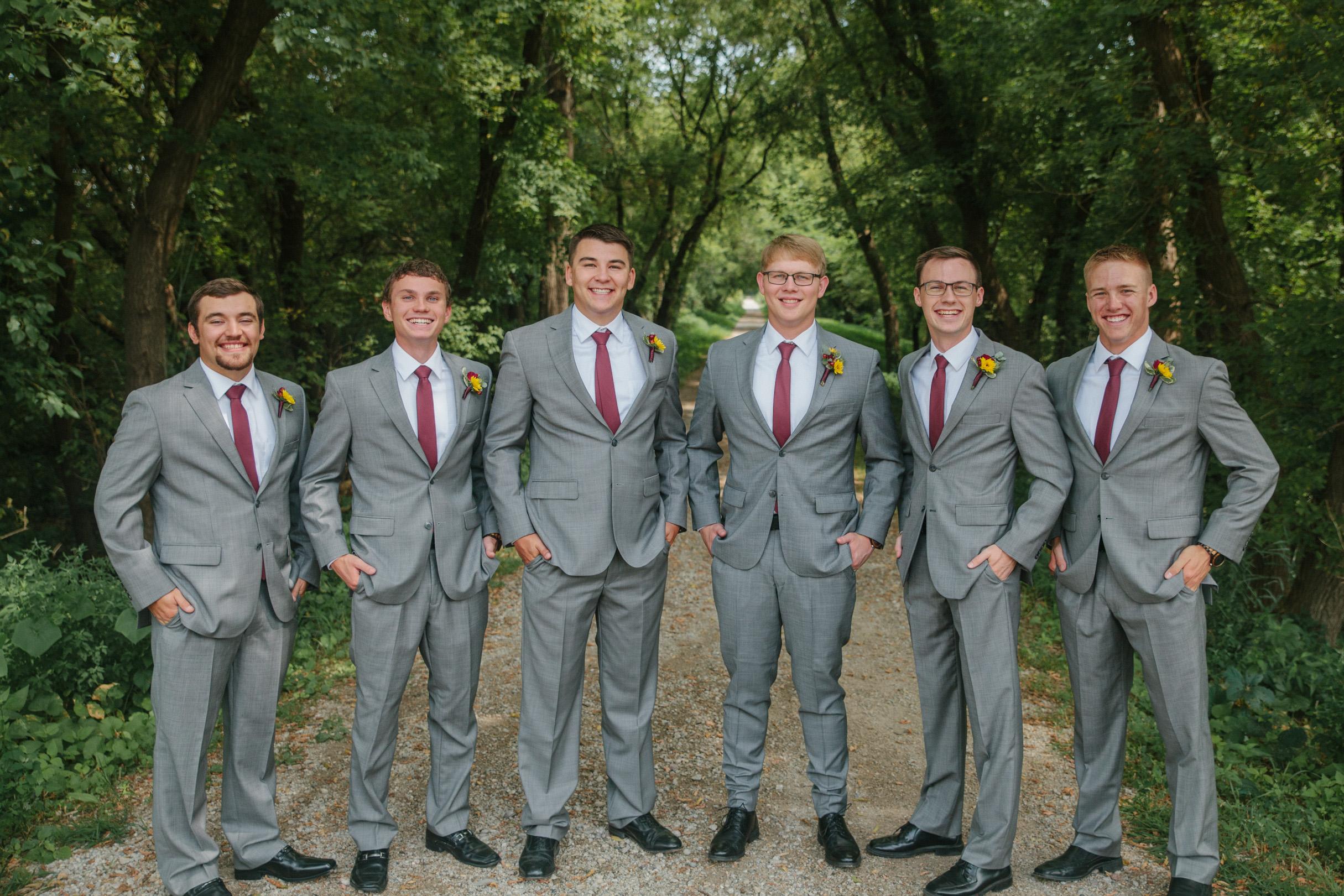 groom and groomsman photos