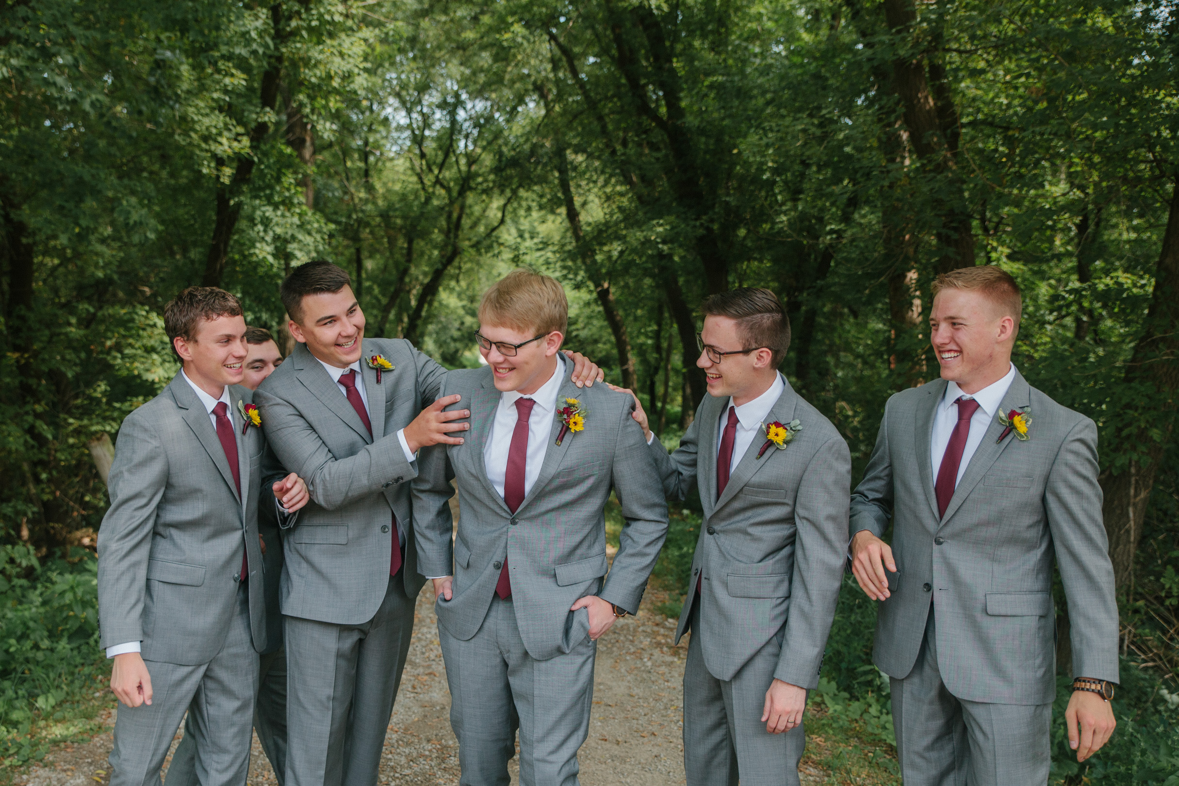 groomsmen photos with groom