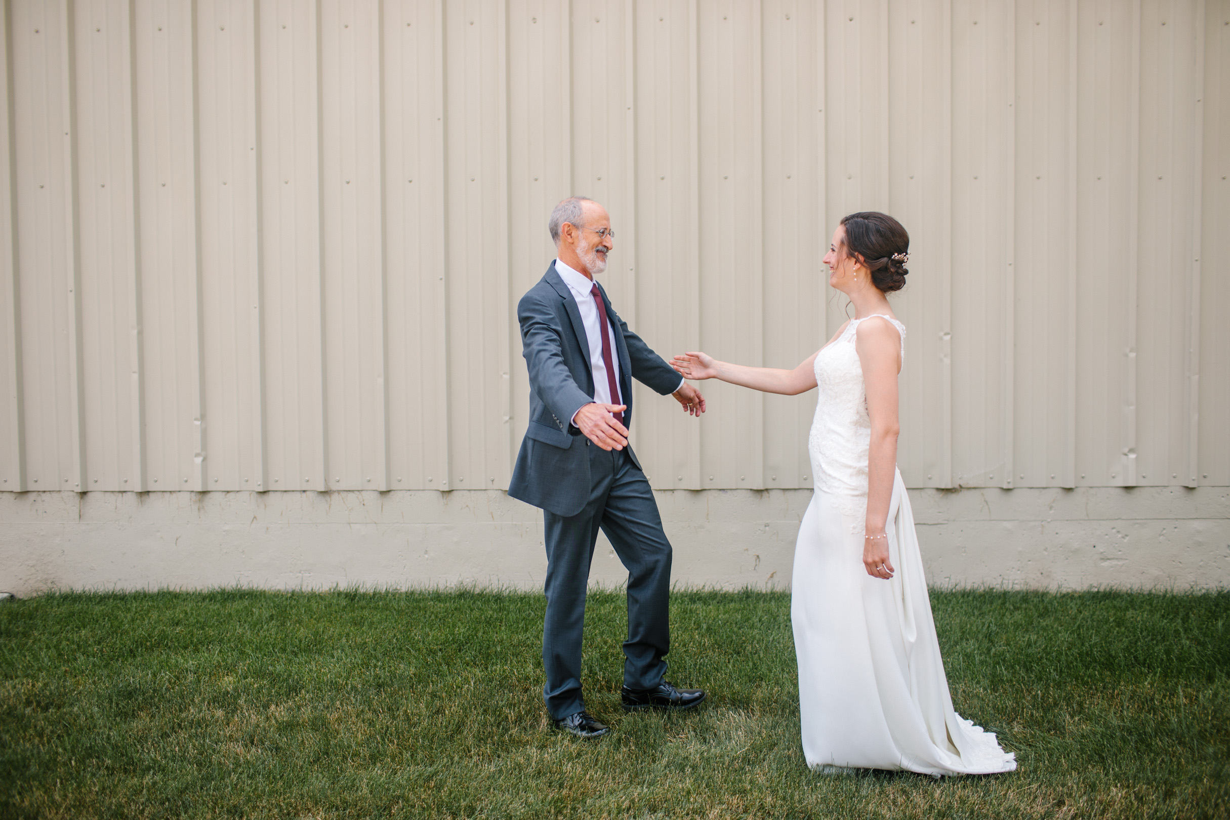 first look with dad amelia renee photography