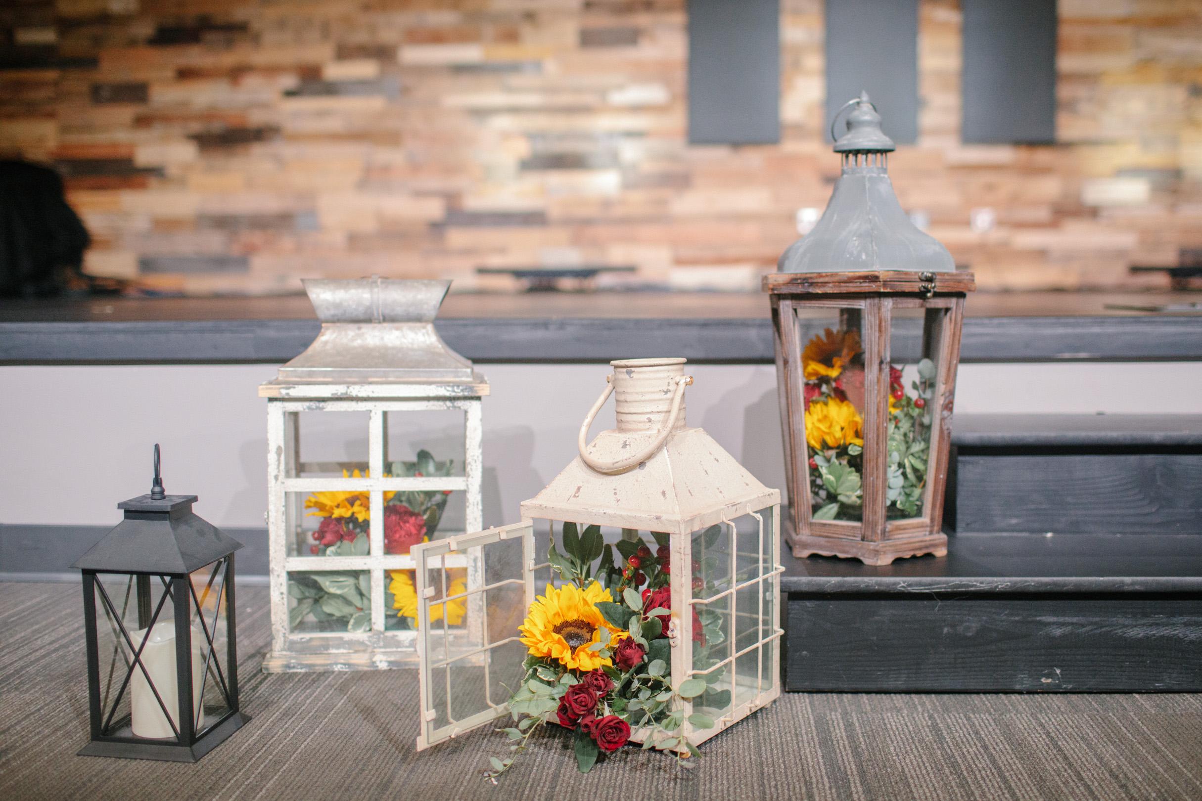 sunflower themed wedding decor
