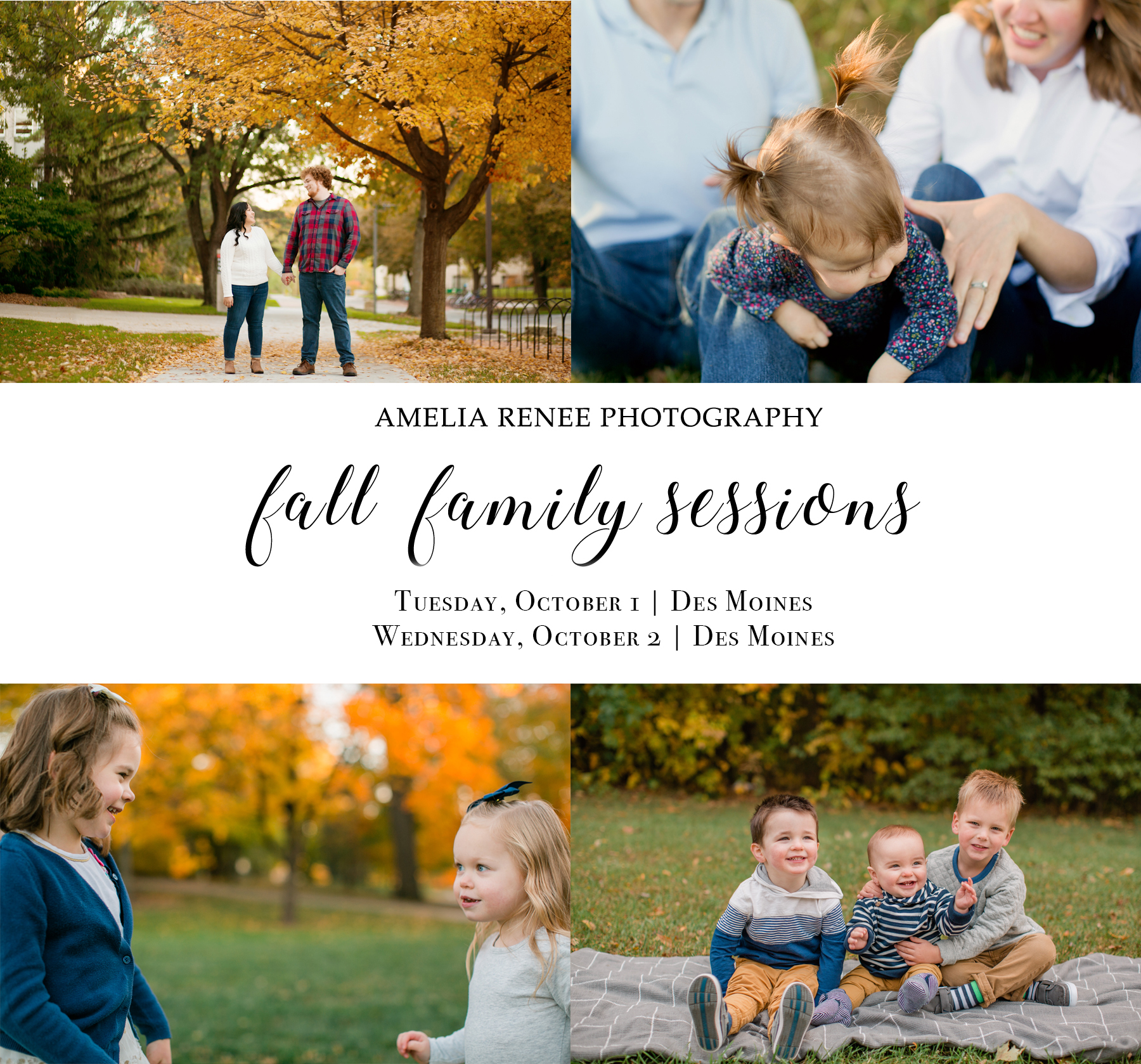 des moines iowa family fall photography 2019