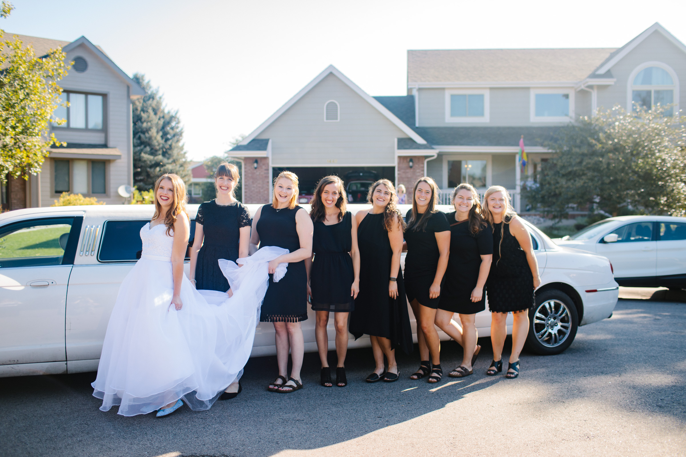 limo on wedding day fort collins colorado