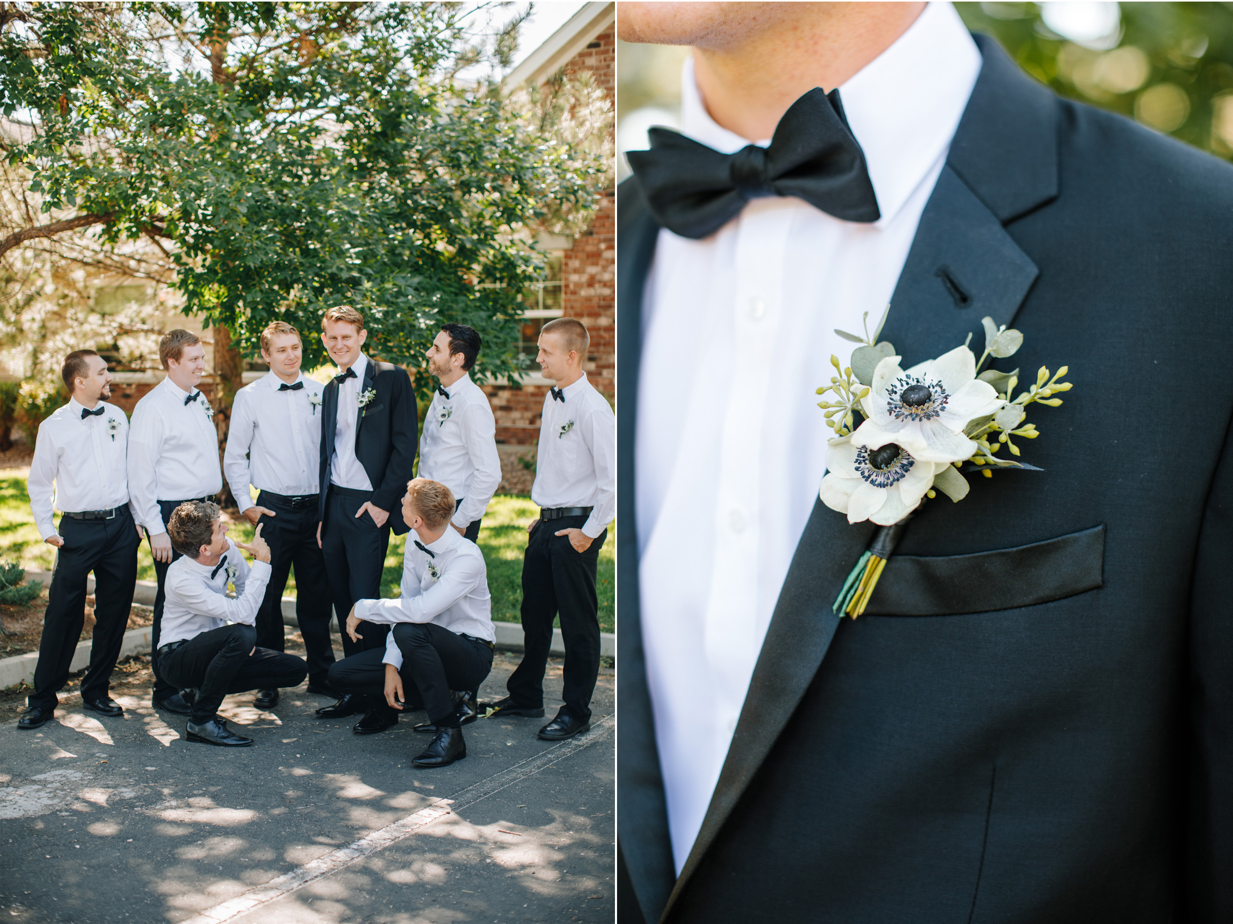 the black tux wedding