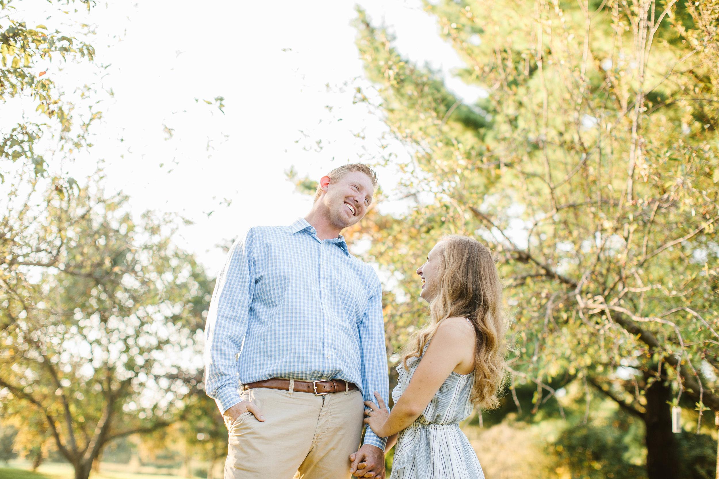 summer engagement wedding photos in pella iowa