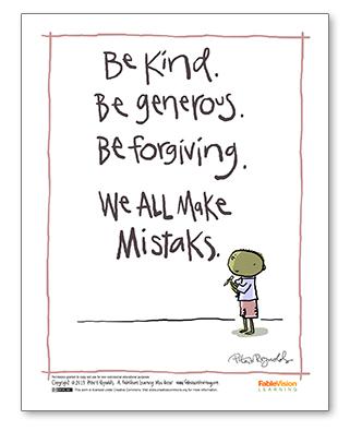 Peter H. Reynolds' We All Make Mistaks Poster