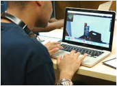 Student in New York City's District 75 Using Creativity Software Program