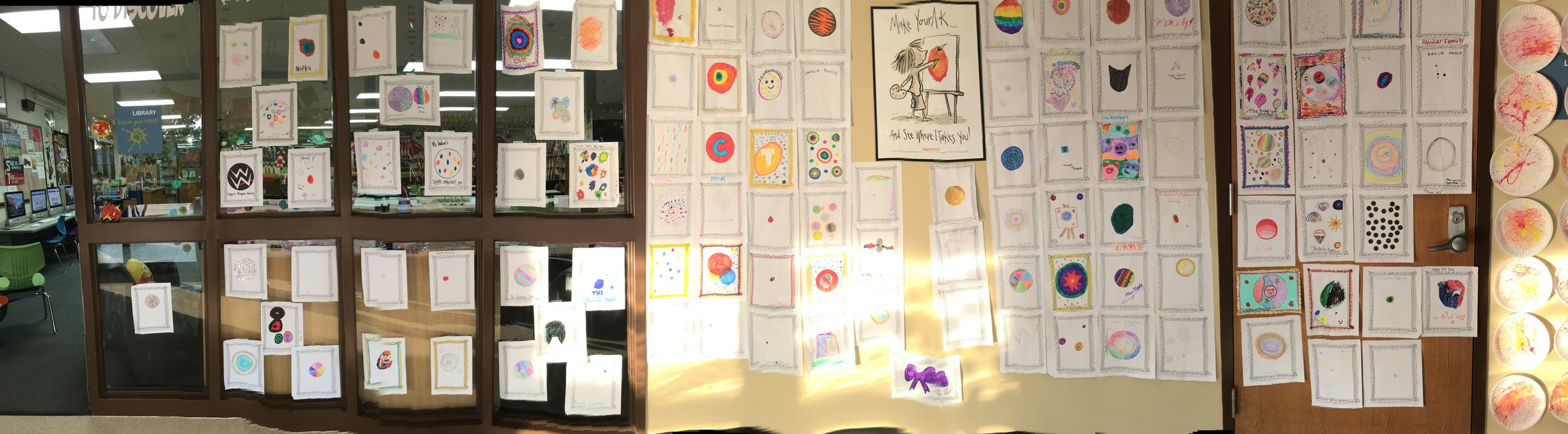 Panoramic Shot Family _ Faculty Dots Hallway Display.JPG